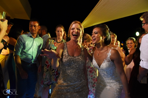 Bride and Sister in law best dance moment Secrets Silversands Wedding Reception