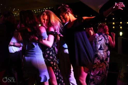 Amazing documental photo Guest having fun disco floor best dance moment Secrets Silversands Wedding Reception
