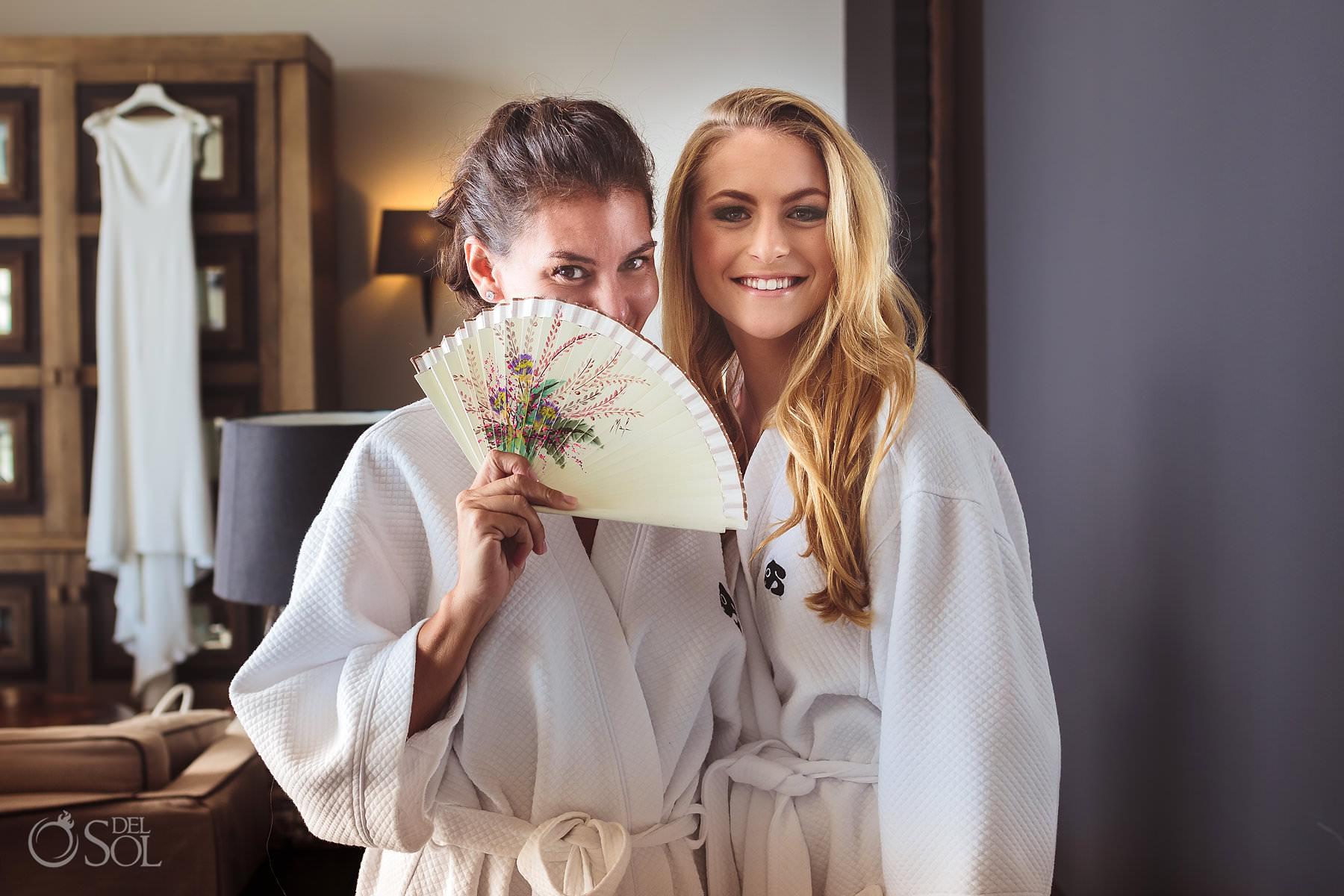 Nizuc Cancun wedding bridesmaids