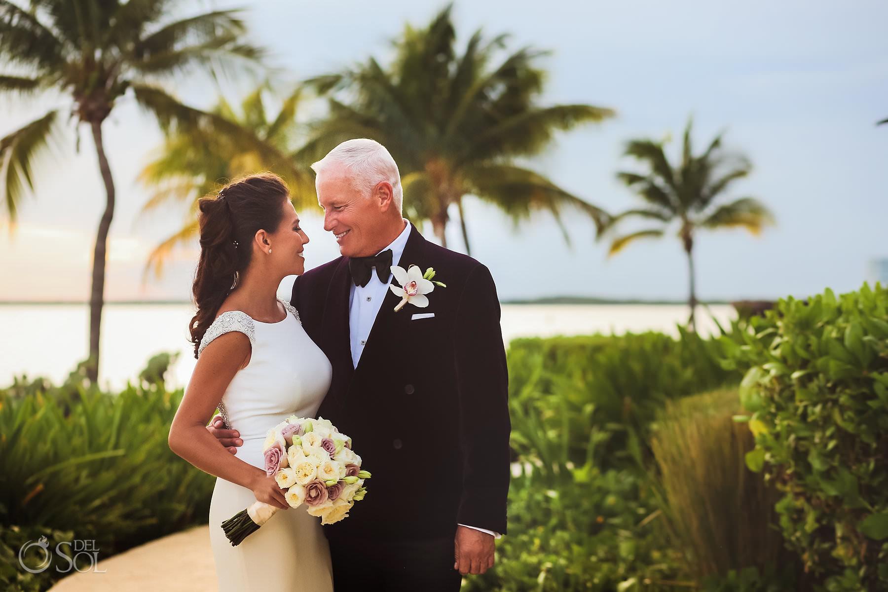 Nizuc Cancun Wedding Bride and Groom