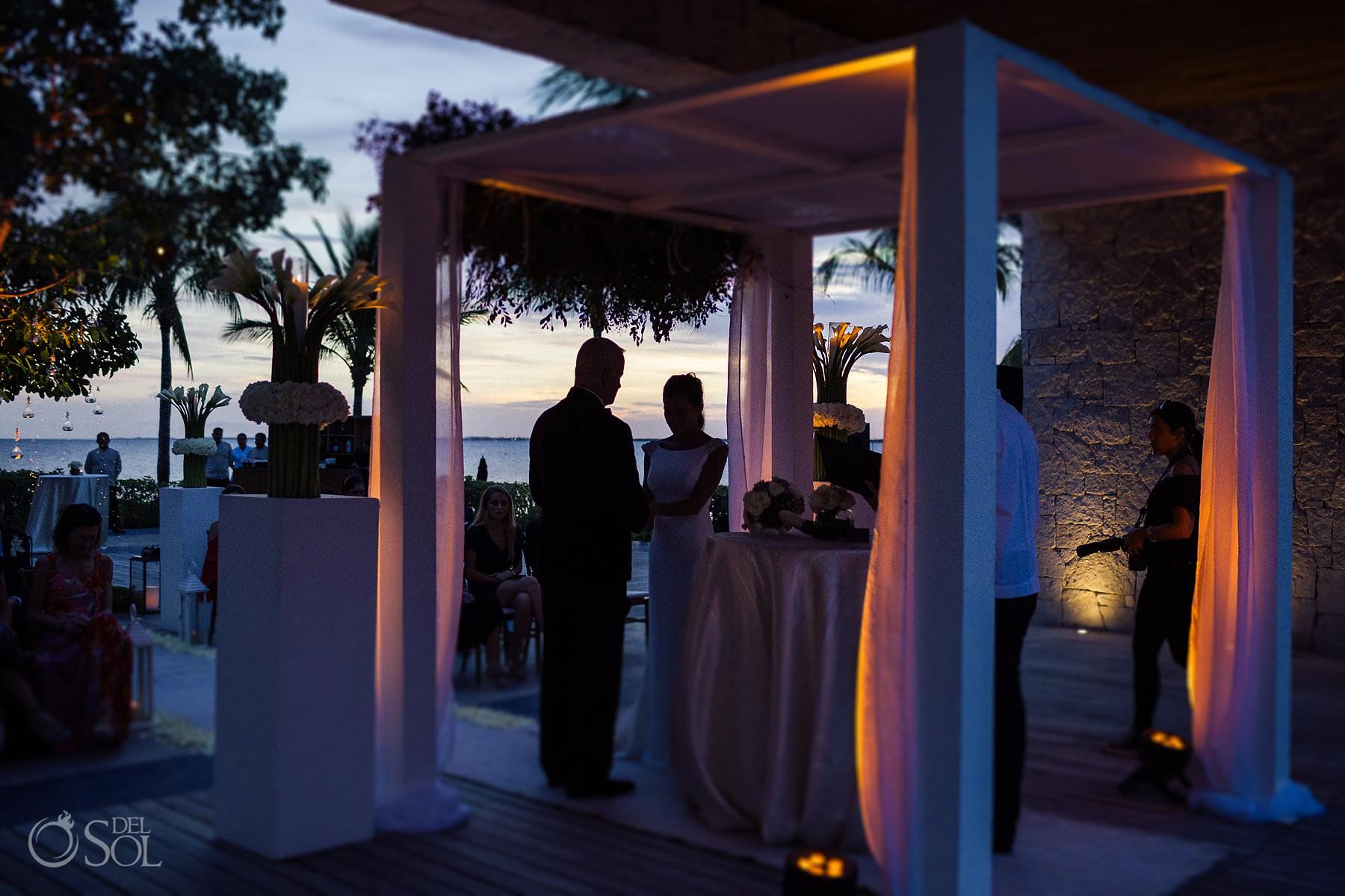 Cancun Sunset wedding ceremony Nizuc Akan Terrace