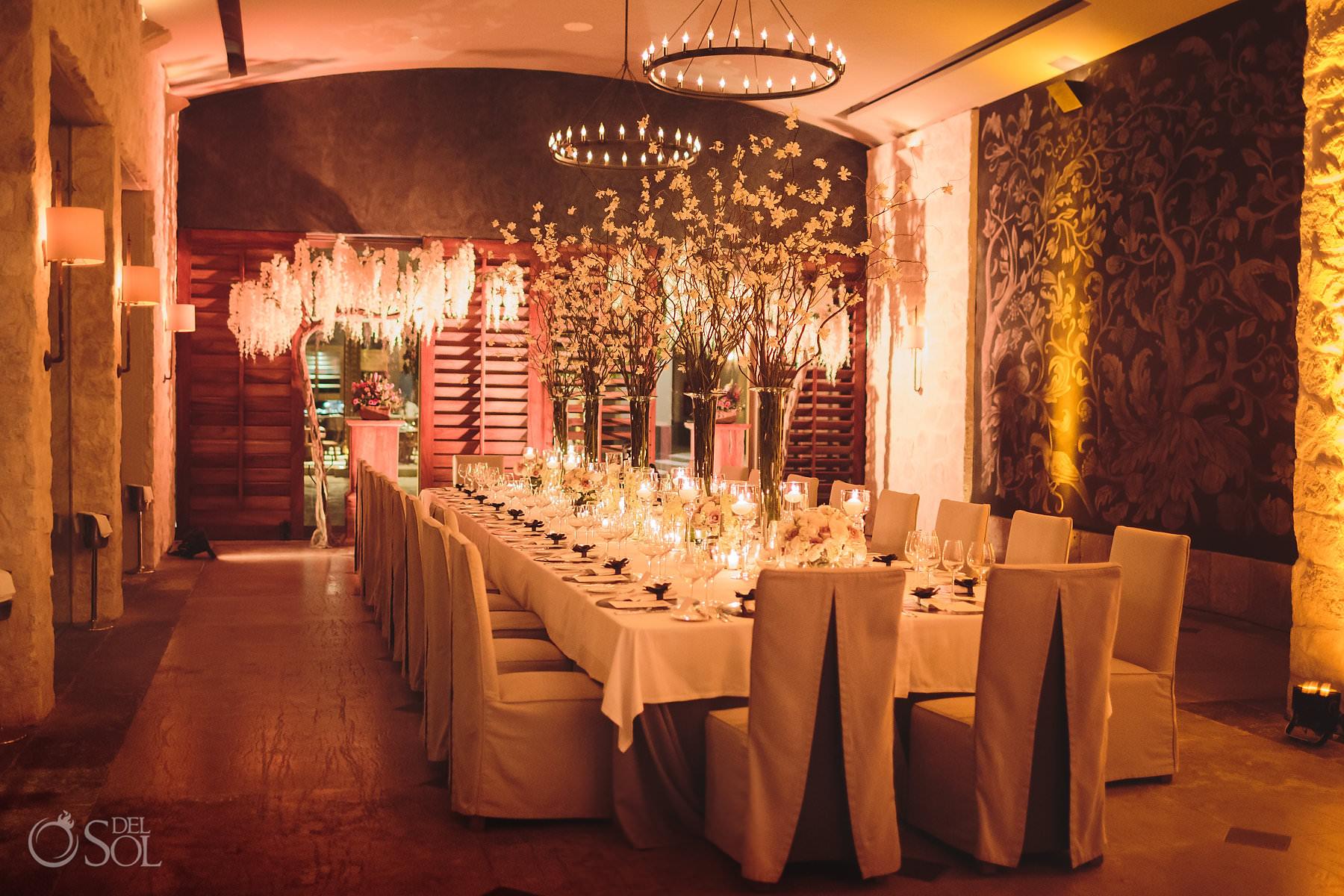 Decor Nizuc Cancun luxury wedding reception decor byBlossom Events and Wedding Designs