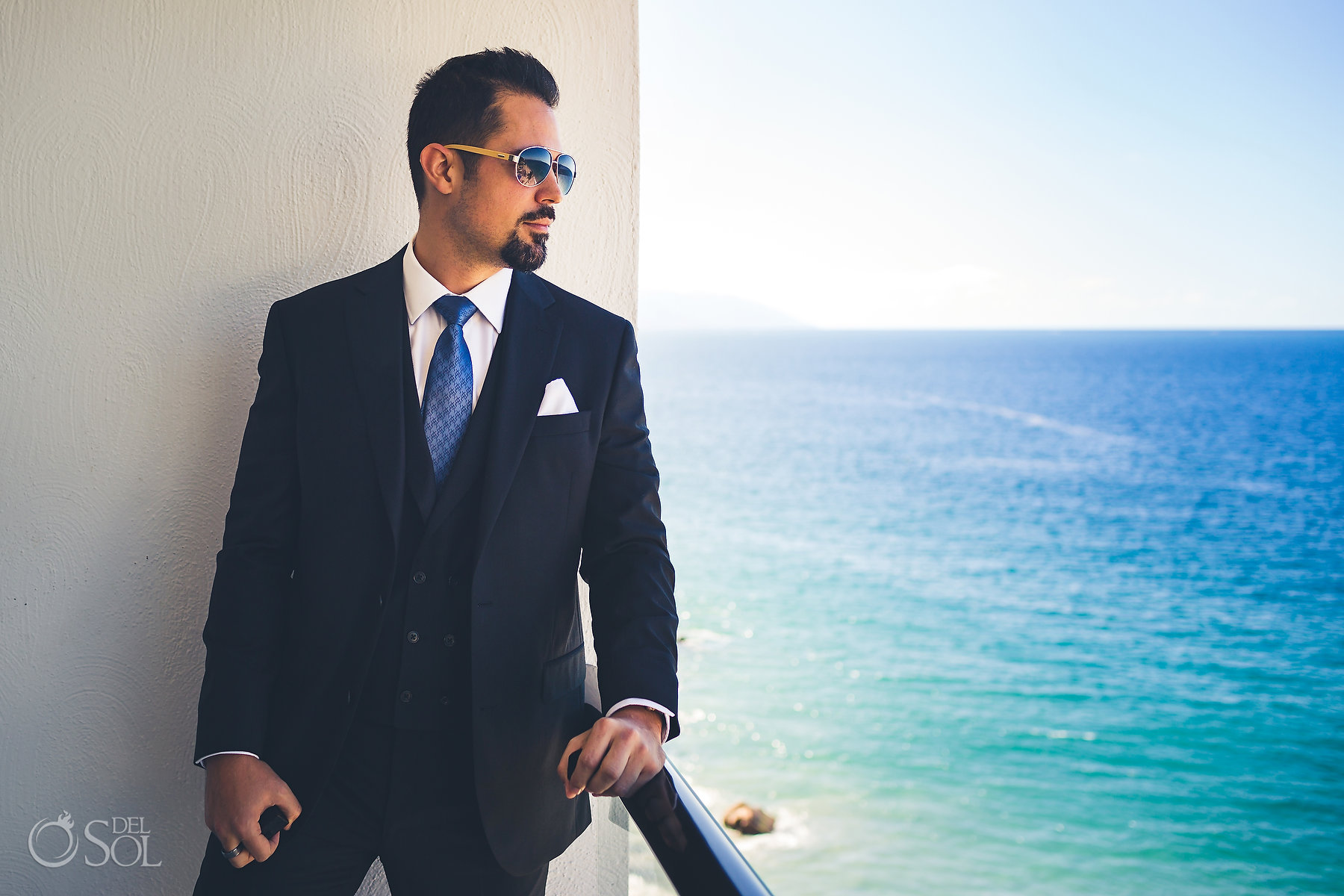 Portrait Grooms Moores Suit Hyatt Ziva Puerto Vallarta Wedding