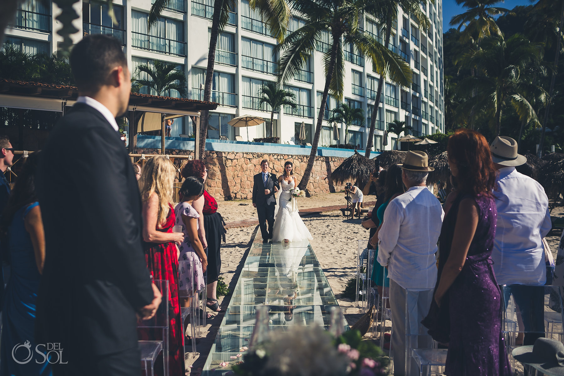 Brides Ceremony Entrance Hyatt Ziva Puerto Vallarta Wedding