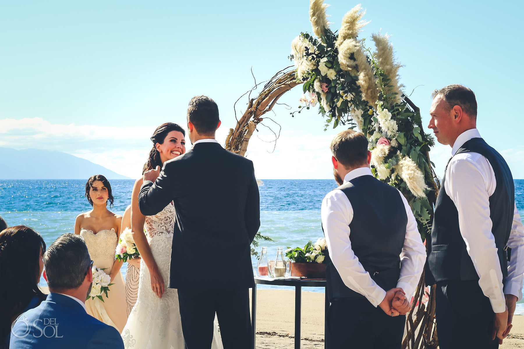 wedding circle decorations beach outdoor Hyatt Ziva Puerto Vallarta Wedding
