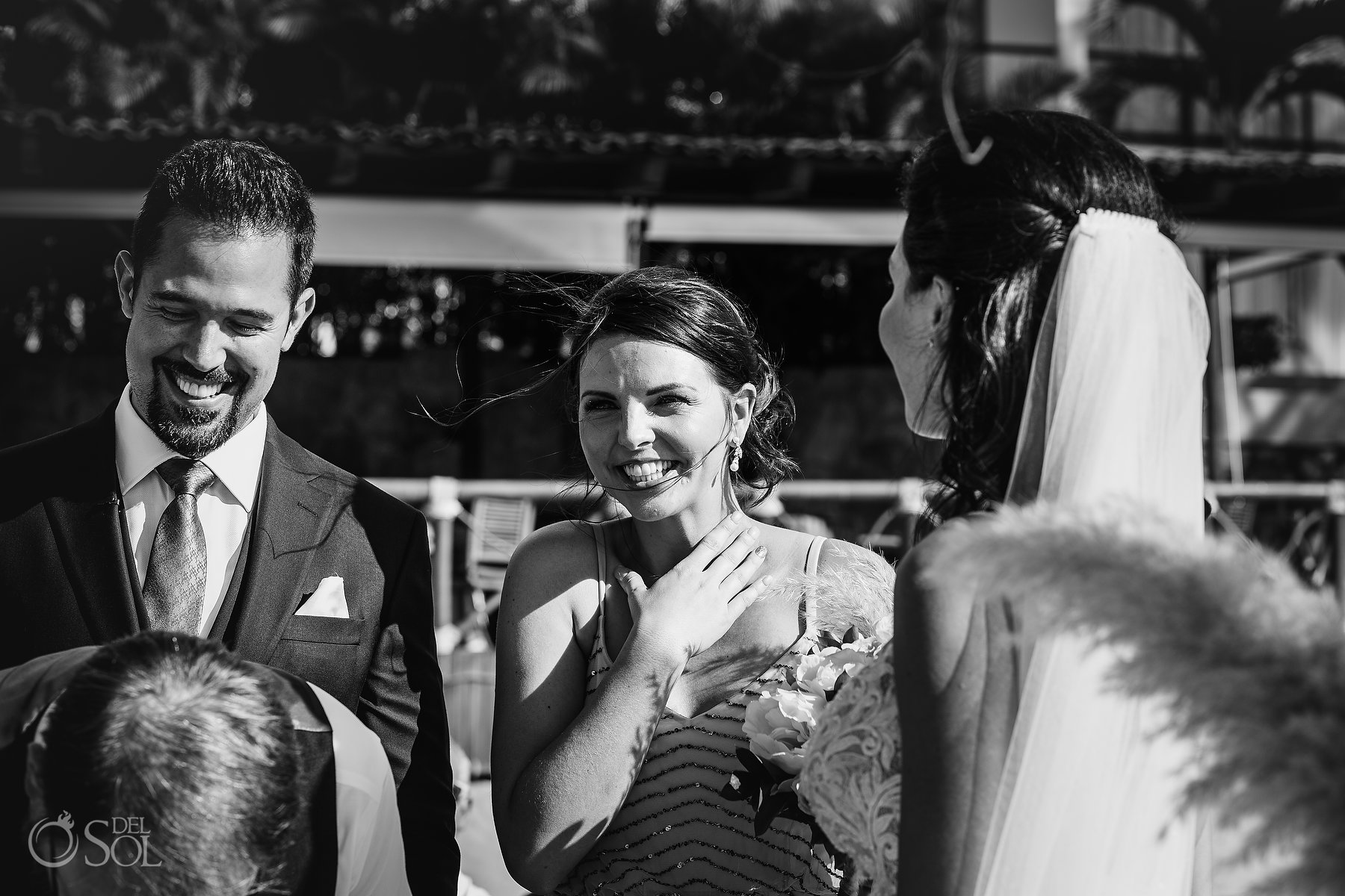 Bridesmaid Black and White Documentary Photography Hyatt Ziva Puerto Vallarta Wedding
