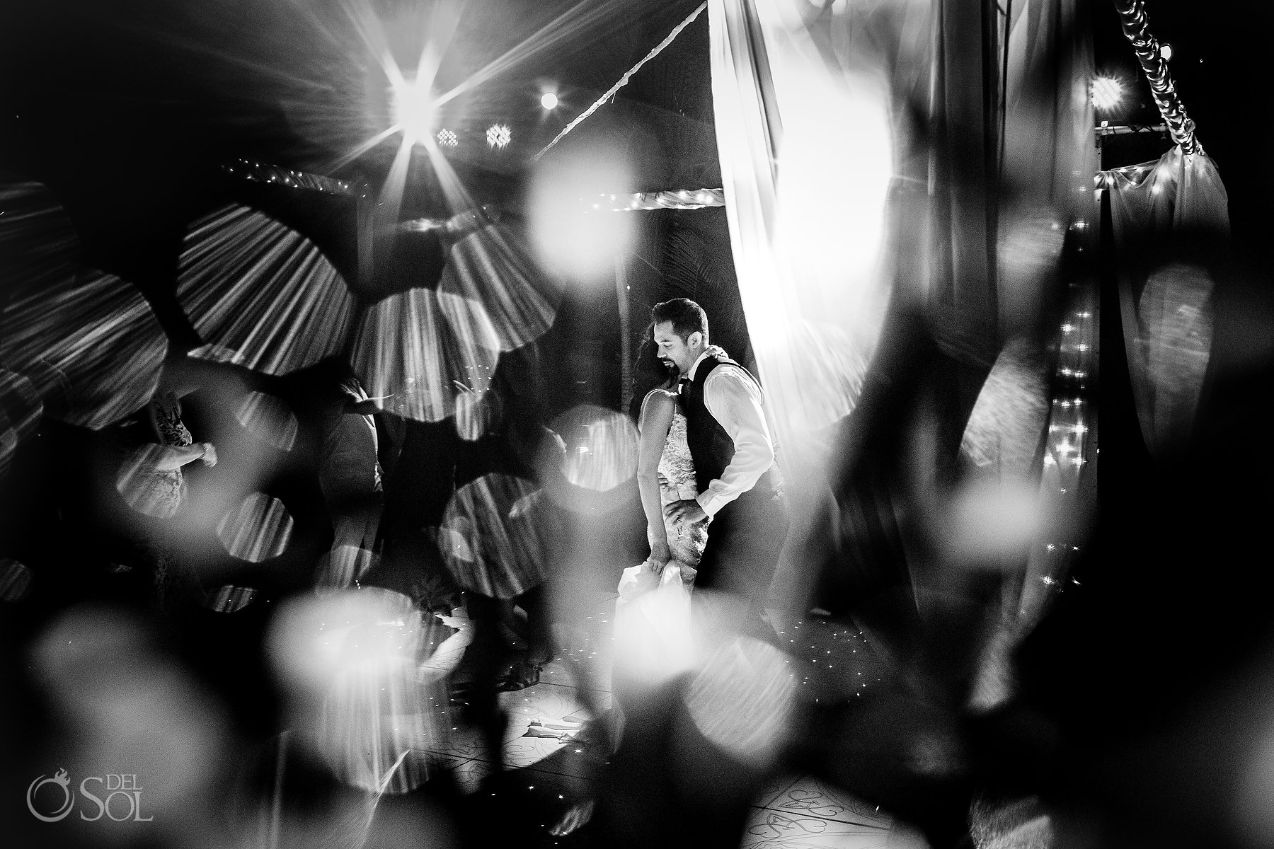 newlyweds dance epic light portrait Hyatt Ziva Puerto Vallarta Wedding
