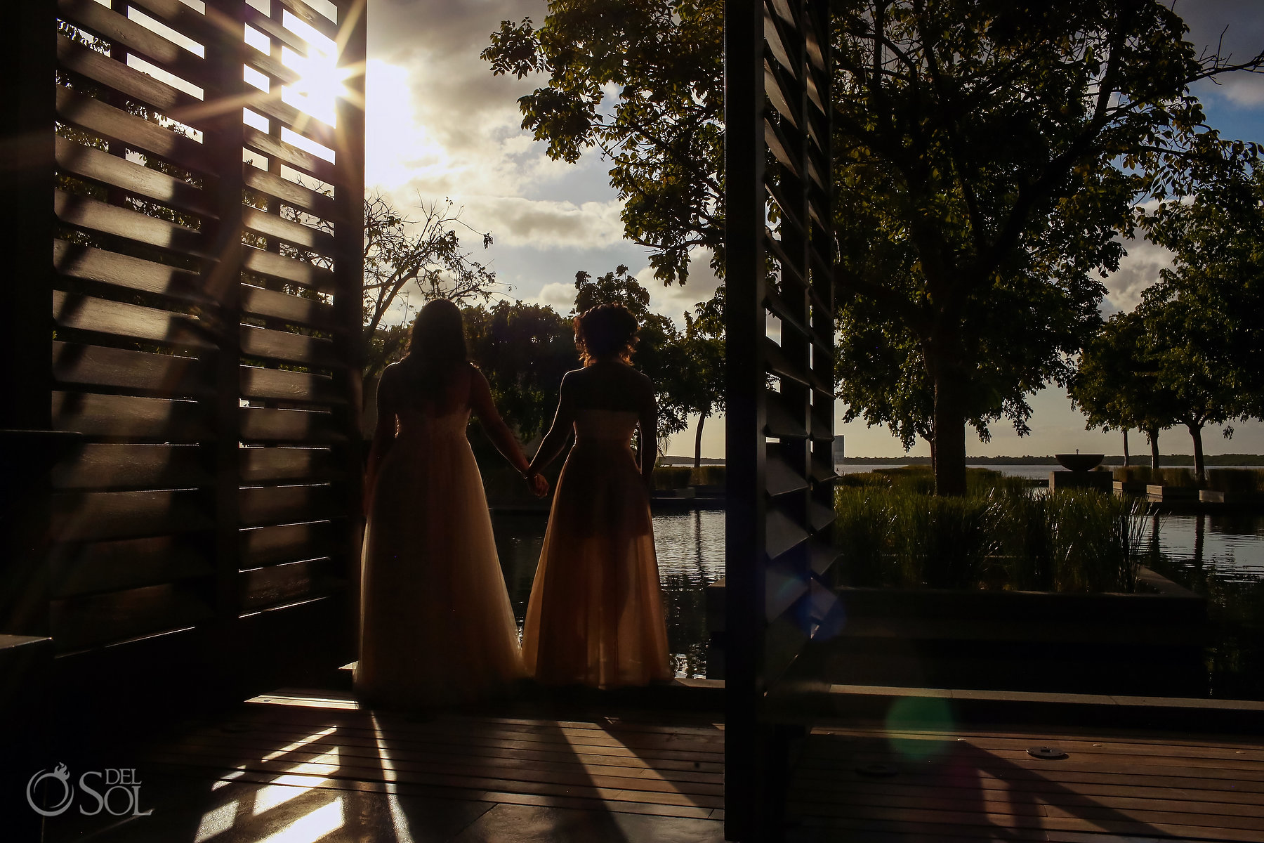 Lesbians brides photoshoot Same Sex Nizuc Wedding