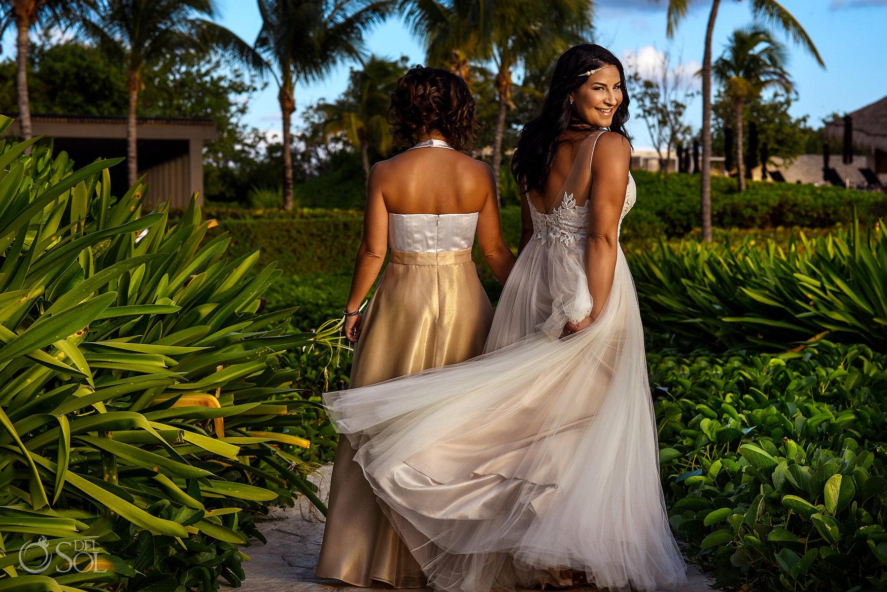 Lesbian Brides Documentary Photoshoot Session Same Sex Nizuc Wedding