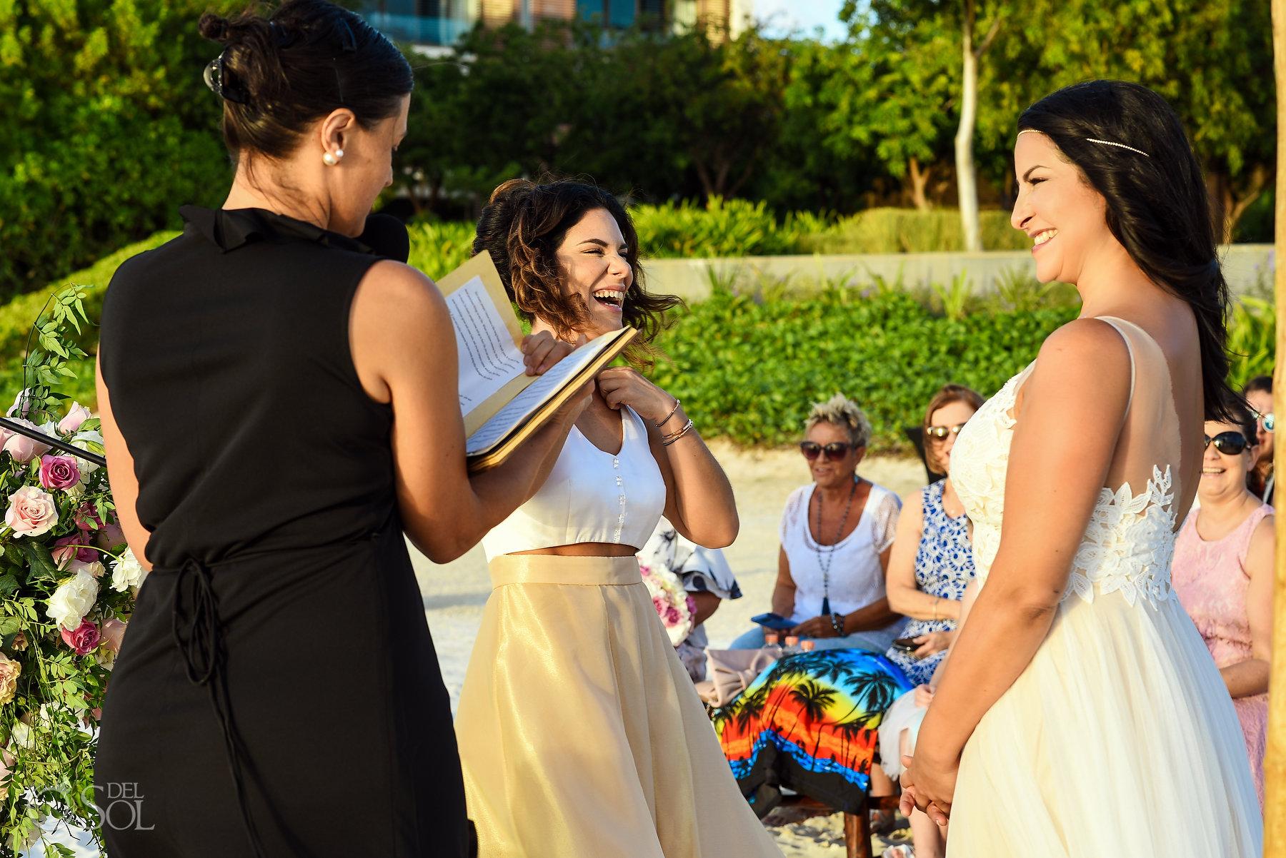 Brides Ceremony Same Sex Nizuc Wedding