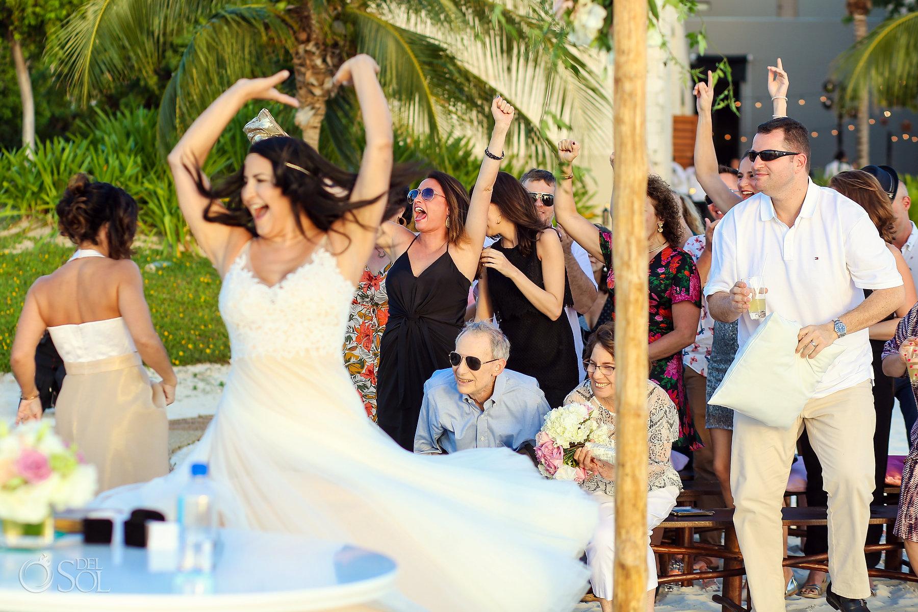 Lesbian bridal ceremony dresses Same Sex Nizuc Wedding