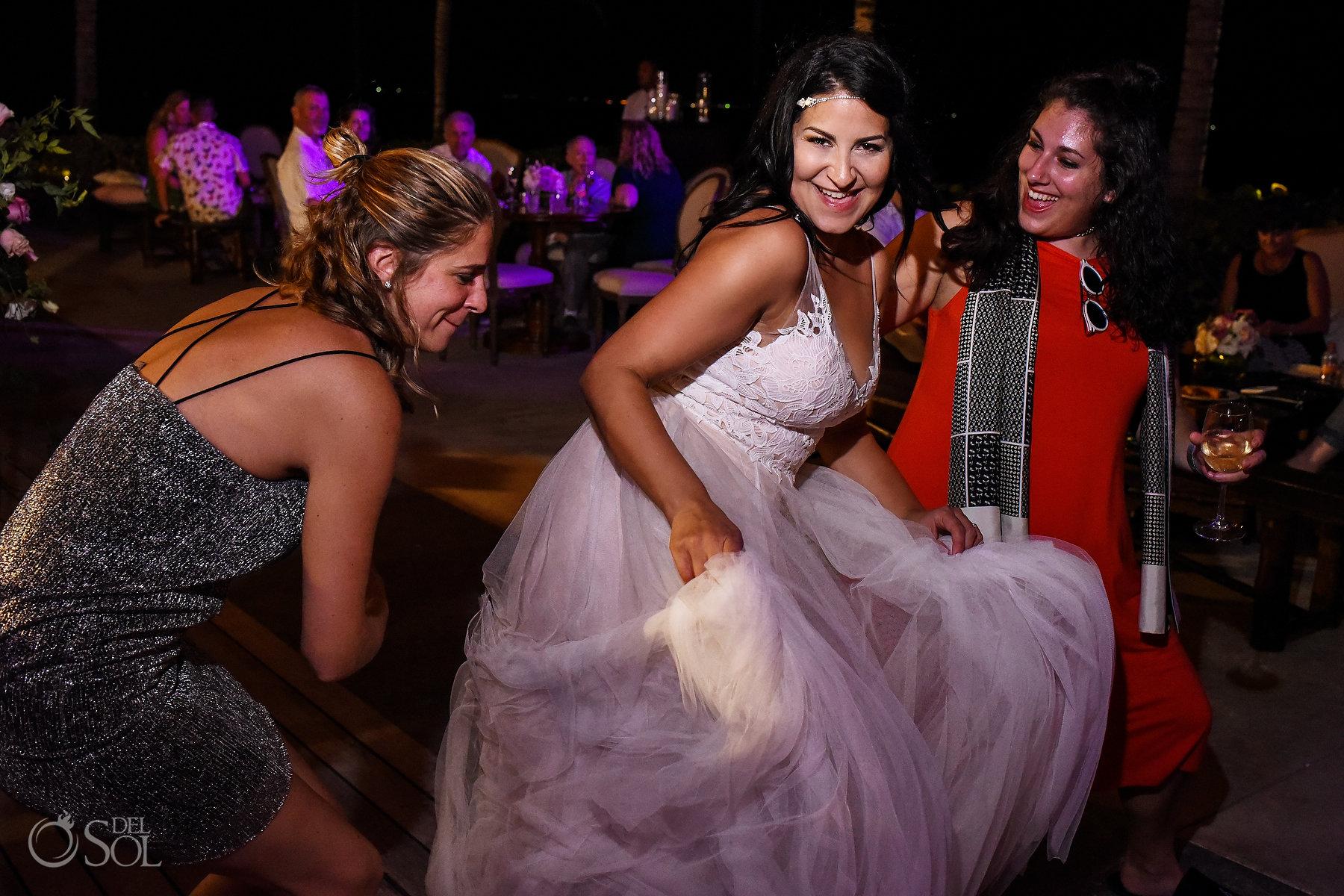 Having fun Party Reception Same Sex Nizuc Wedding