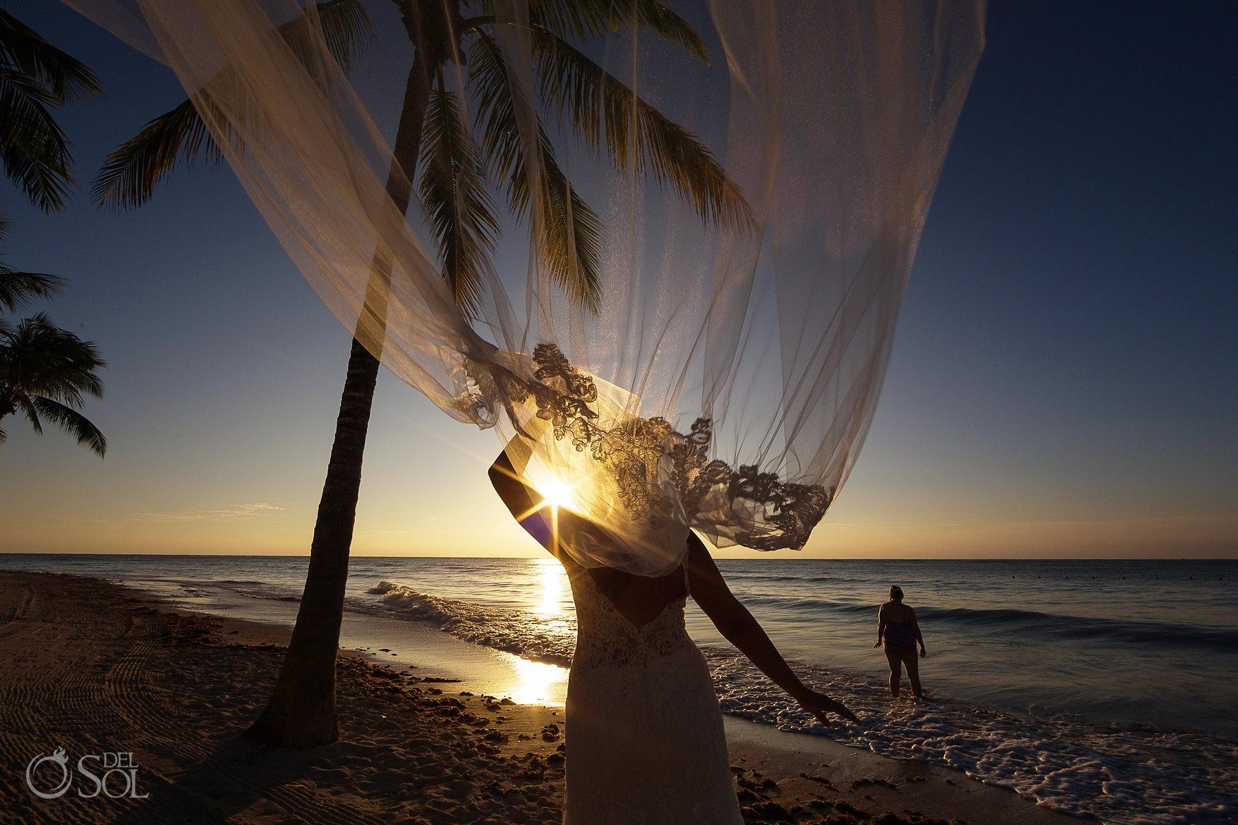 Tulum sunrise experience trash the dress veil