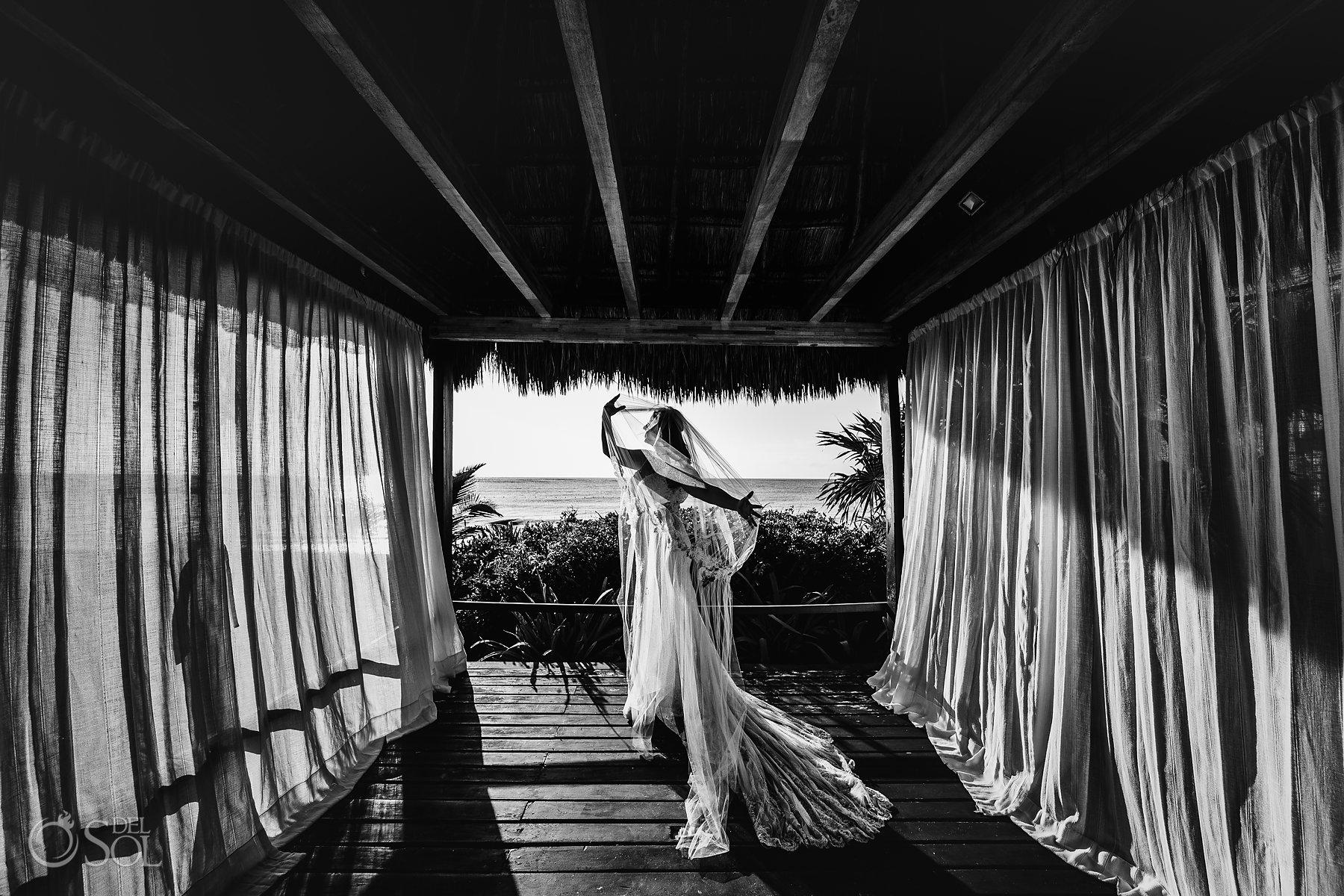 tulum cenote trash the dress