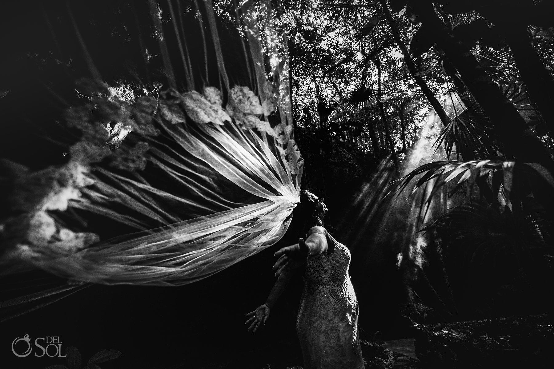 Tulum Cenote Experience bridal veil art portrait