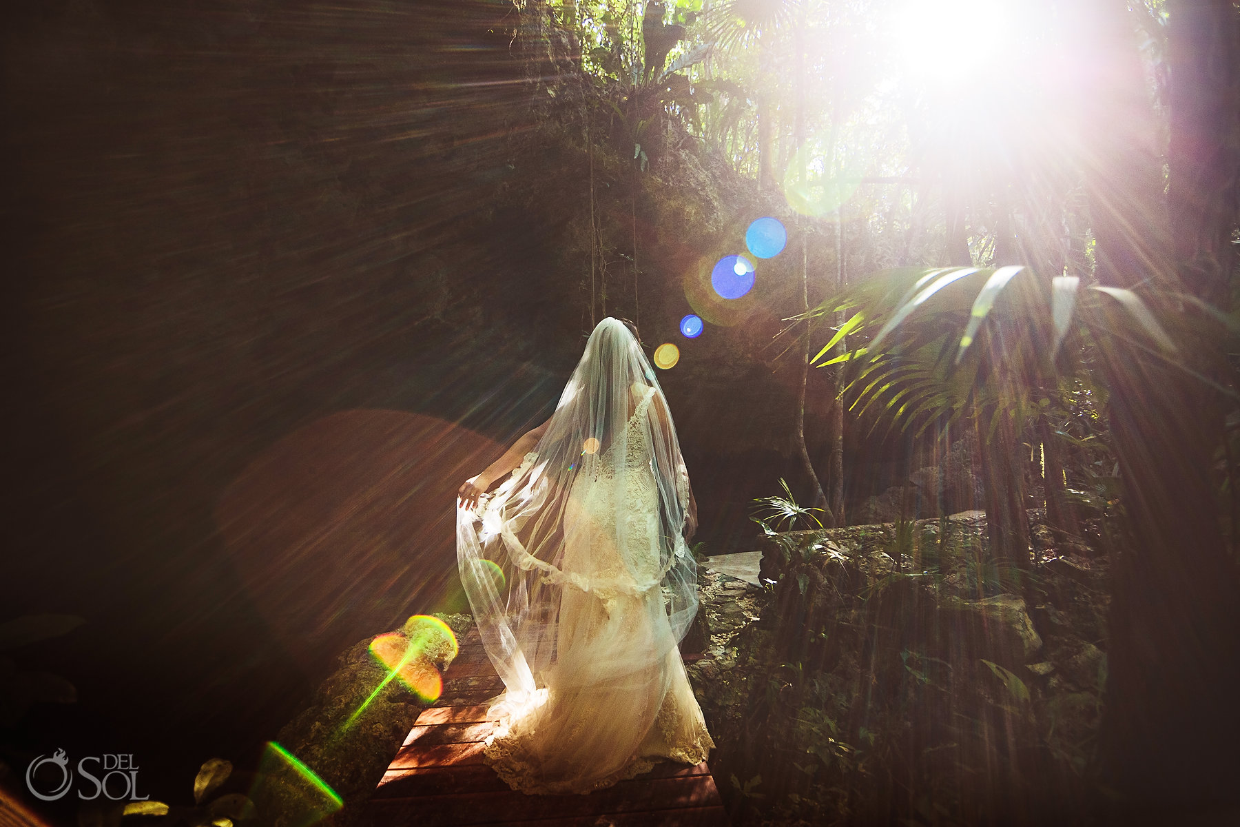 Tulum Cenote Experience trash the dress photo session bride