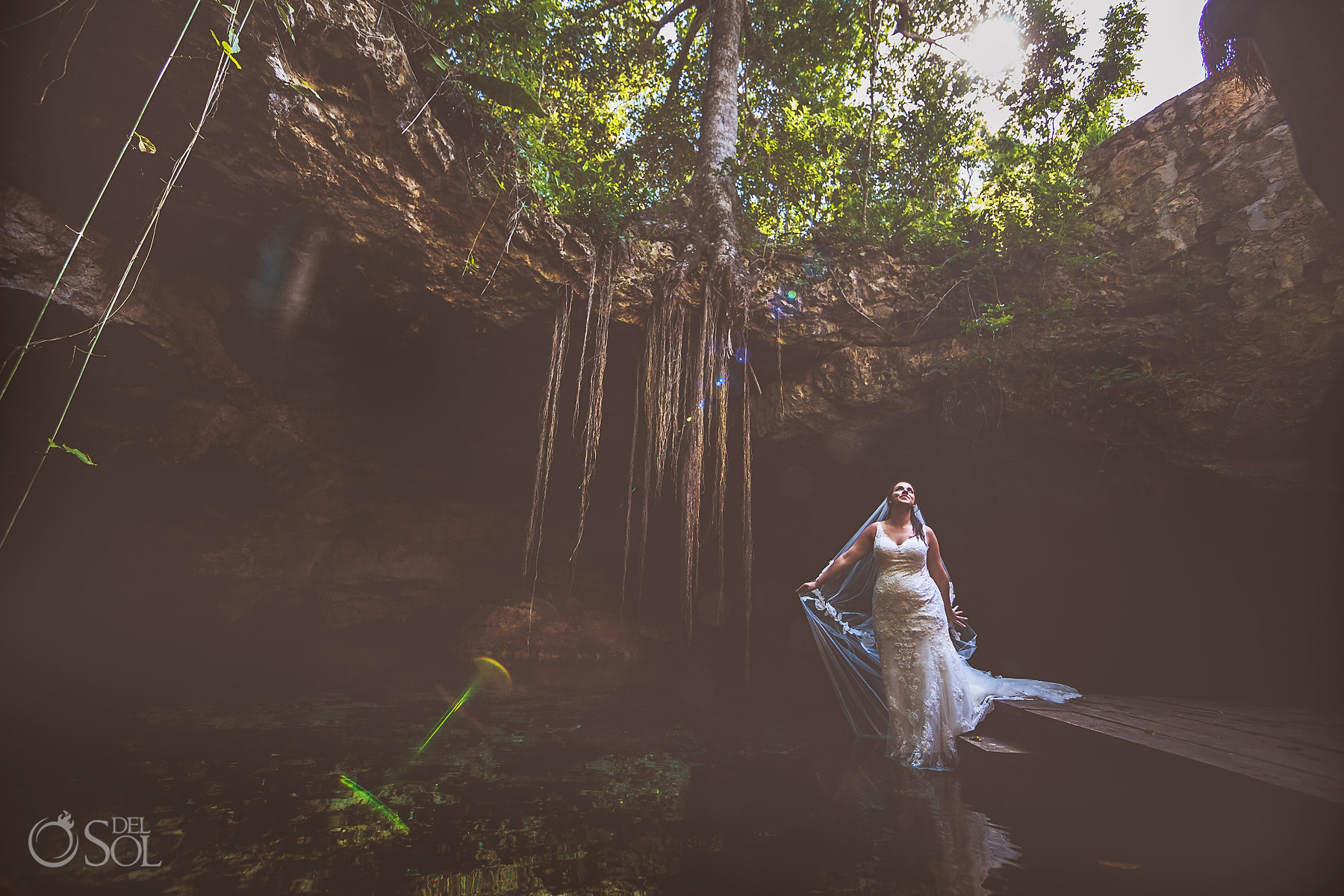 Tulum Cenote Experience bride photoshoot