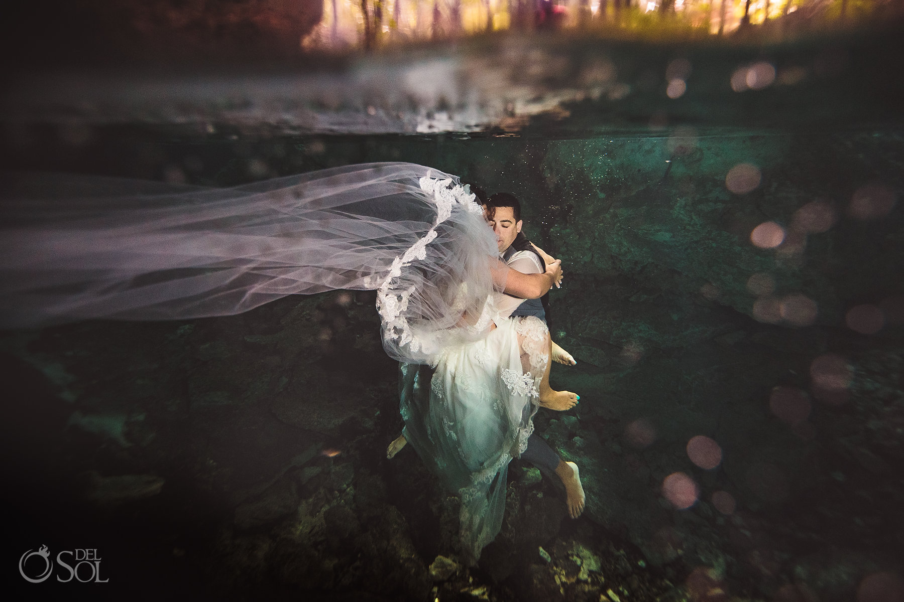 lover trash the dress Tulum Cenote Experience