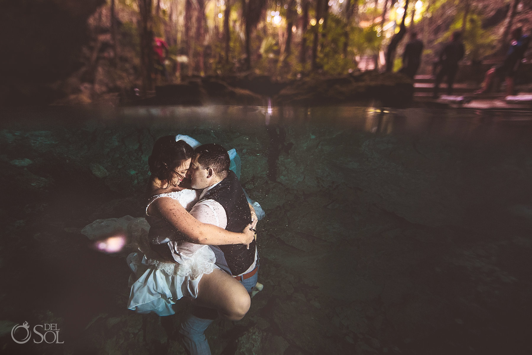 underwater embrace Tulum Cenote Experience photography