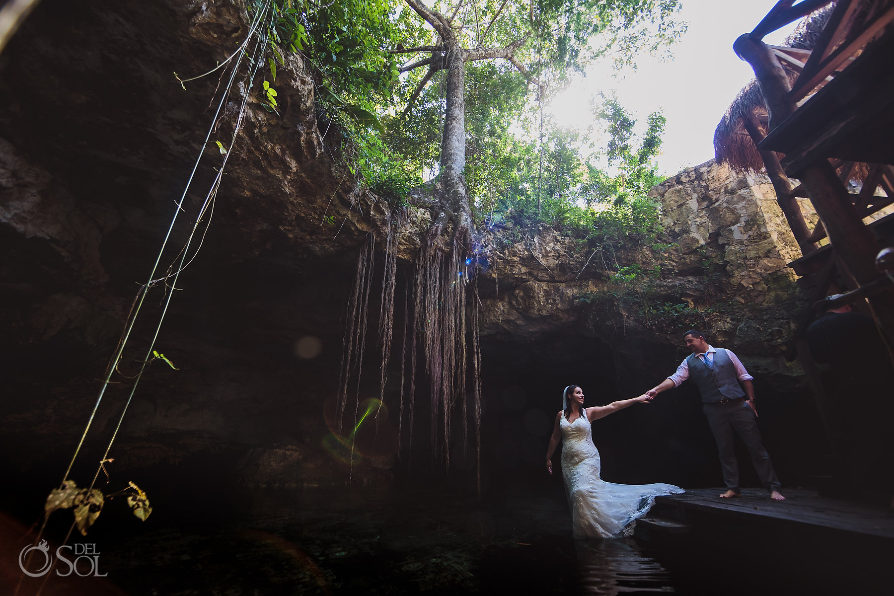 trash the dress Tulum Cenote Experience