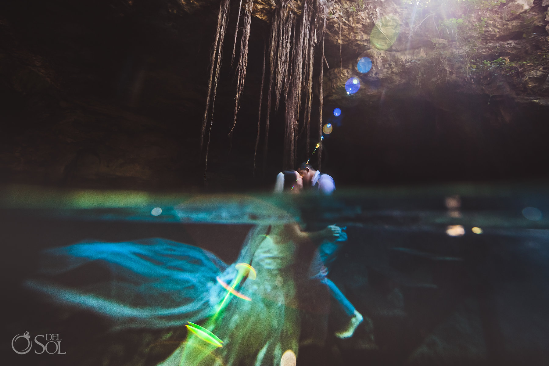 underwater photography flare Tulum Cenote Experience Riviera Maya Mexico
