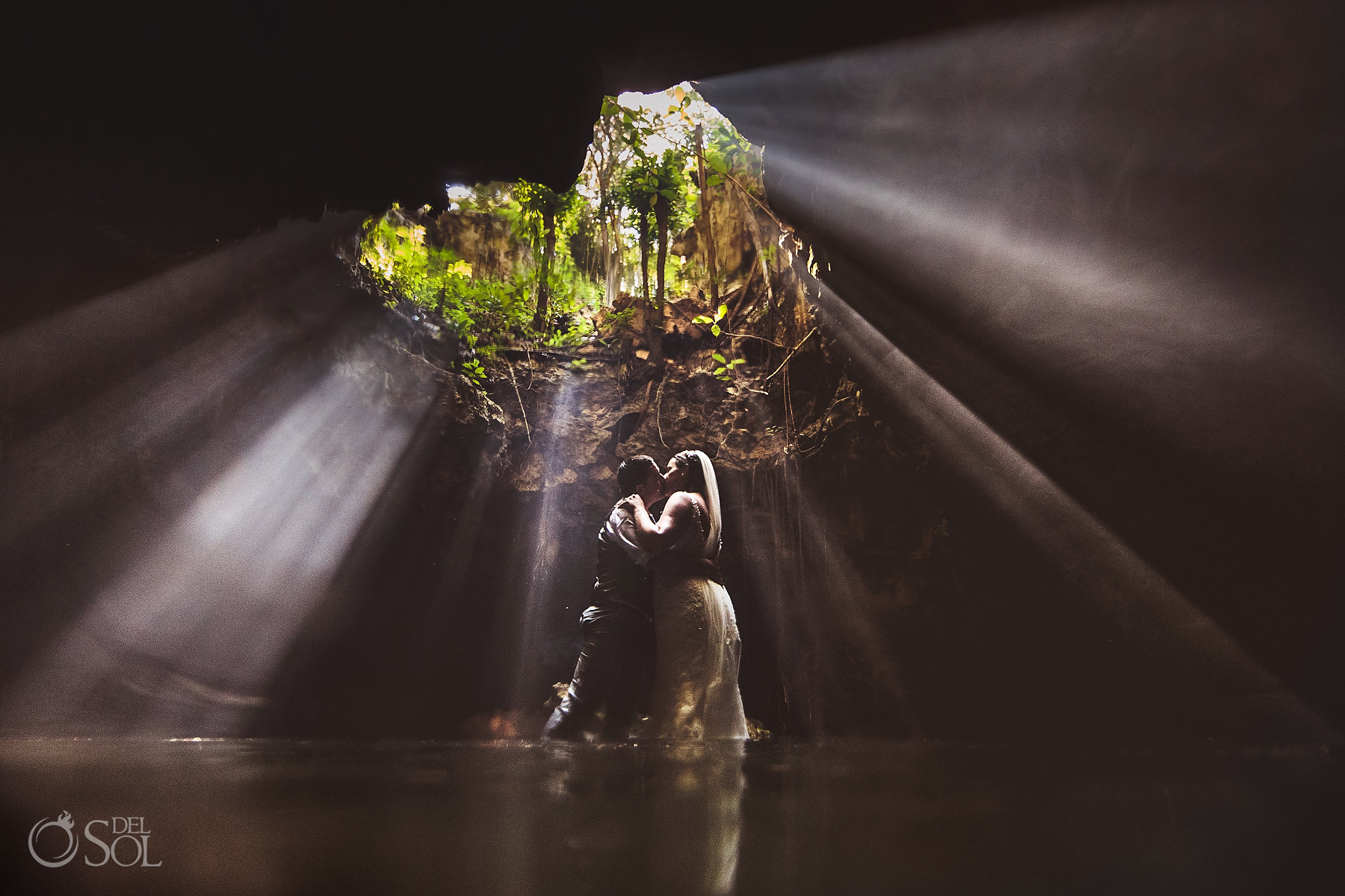 mayan underworld Tulum Cenote Experience couple photoshoot