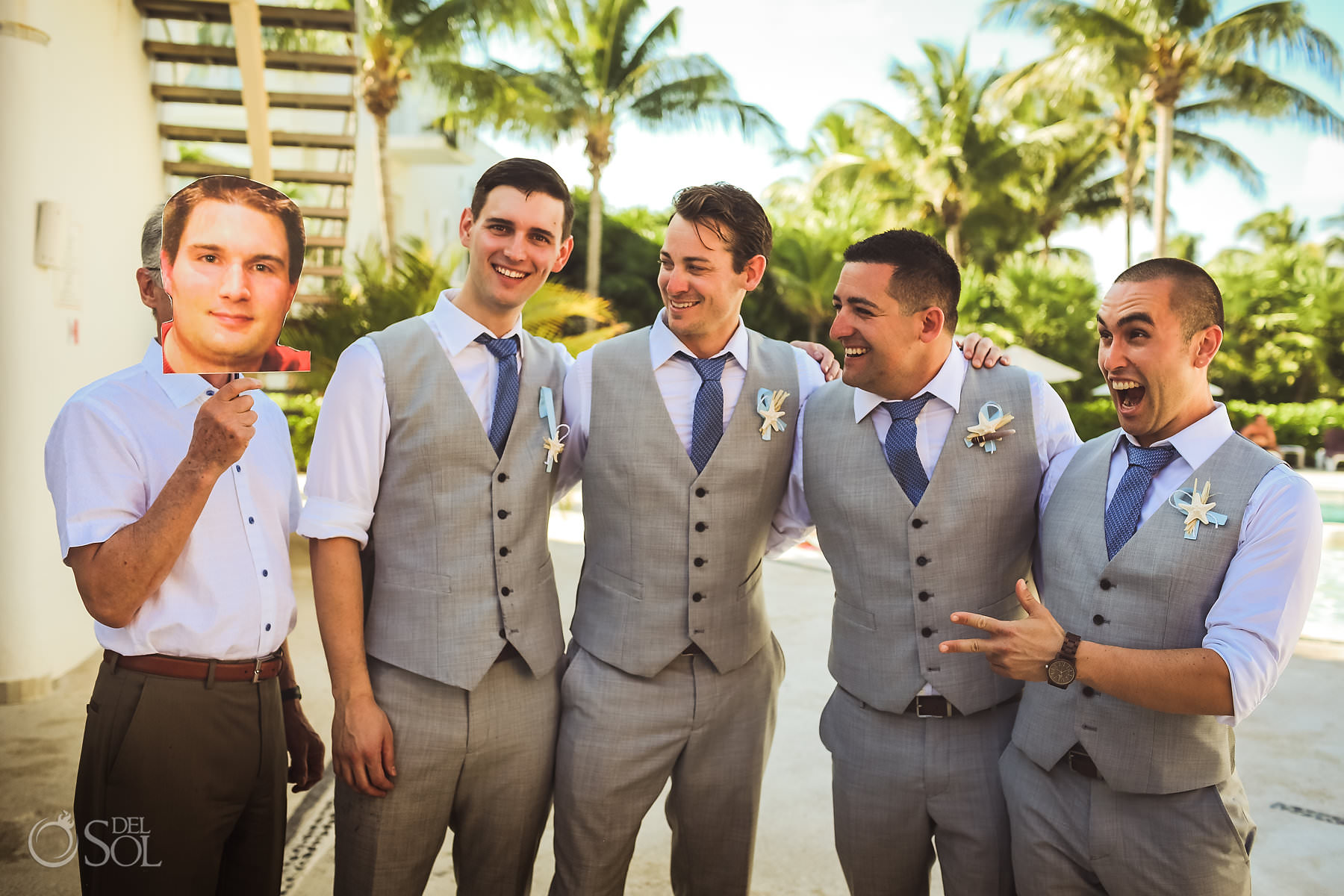 Dreams Tulum Groom Party Eph Apparel suits