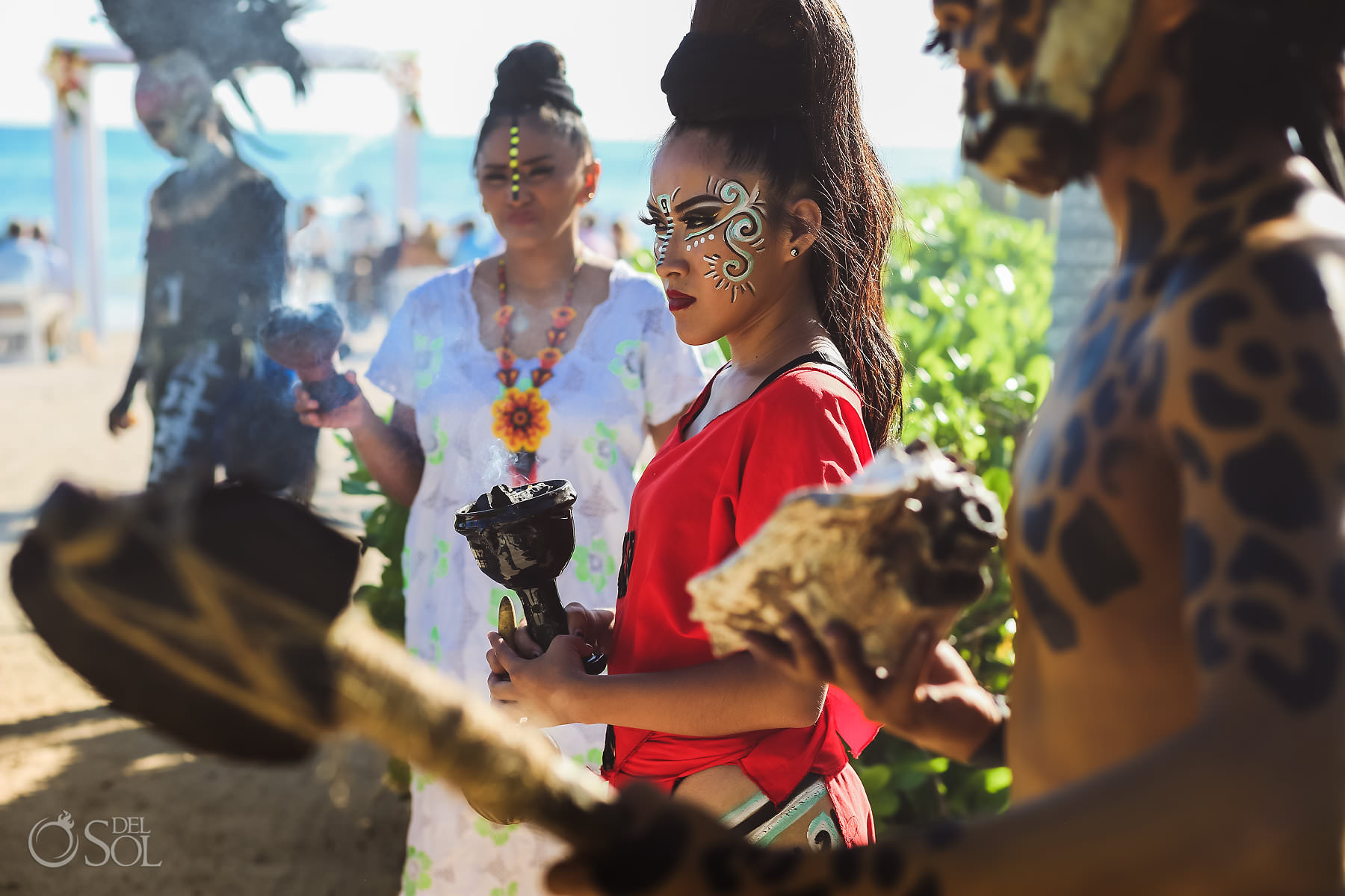 Dreams Tulum Mayan Wedding Makeup