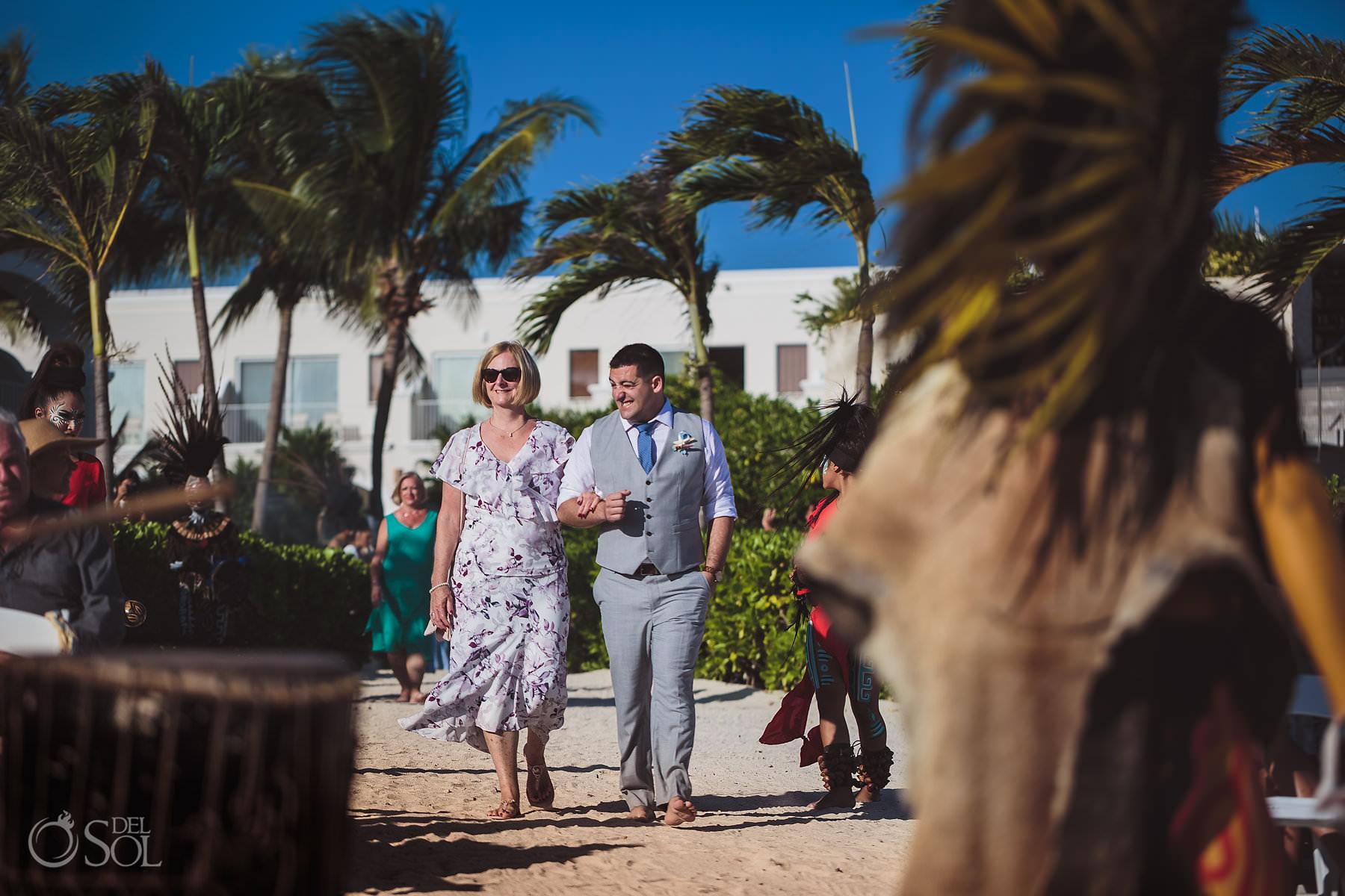 Dreams Tulum Mayan Wedding Groom entrance