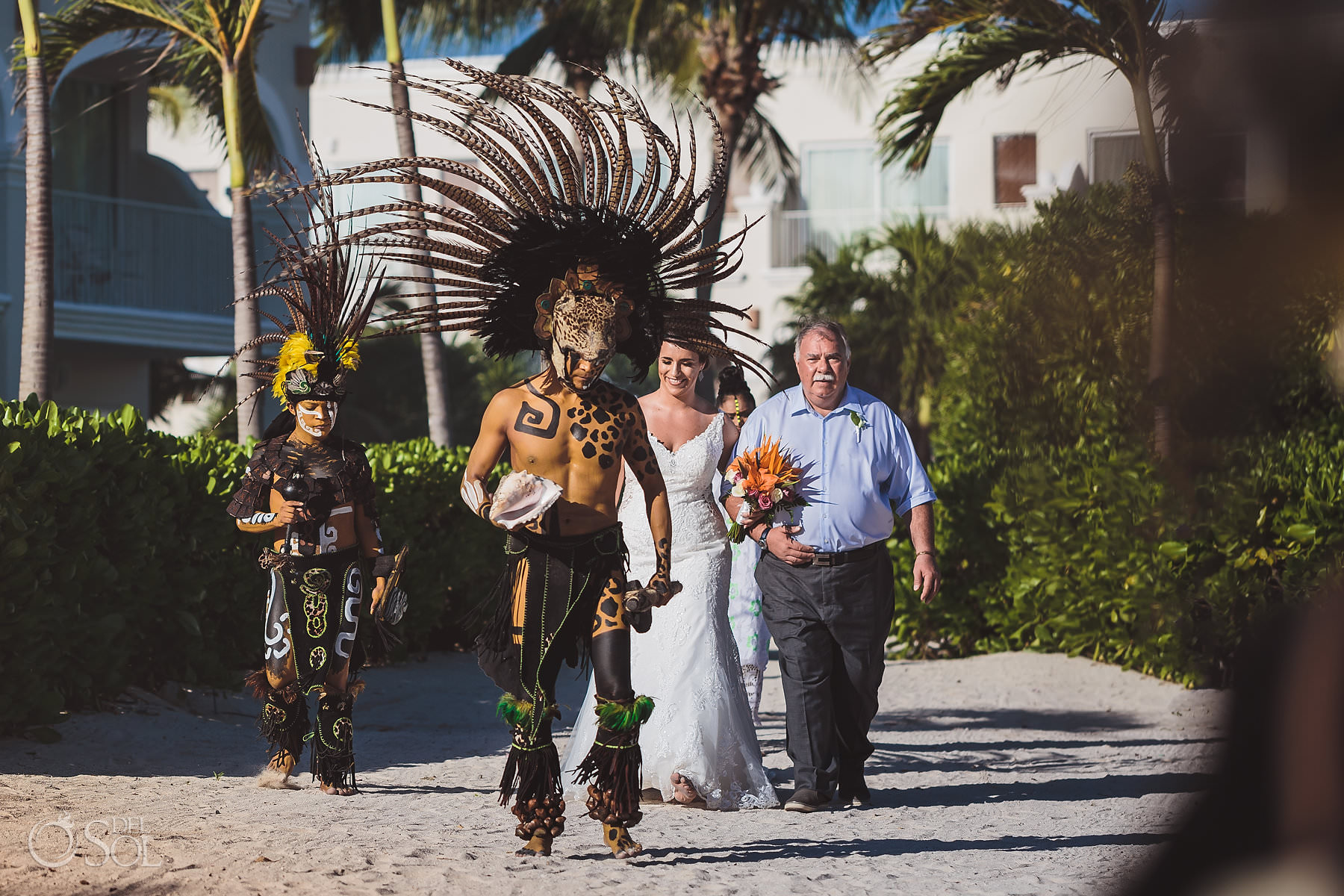 Dreams Tulum Mayan Wedding Bride Entrance