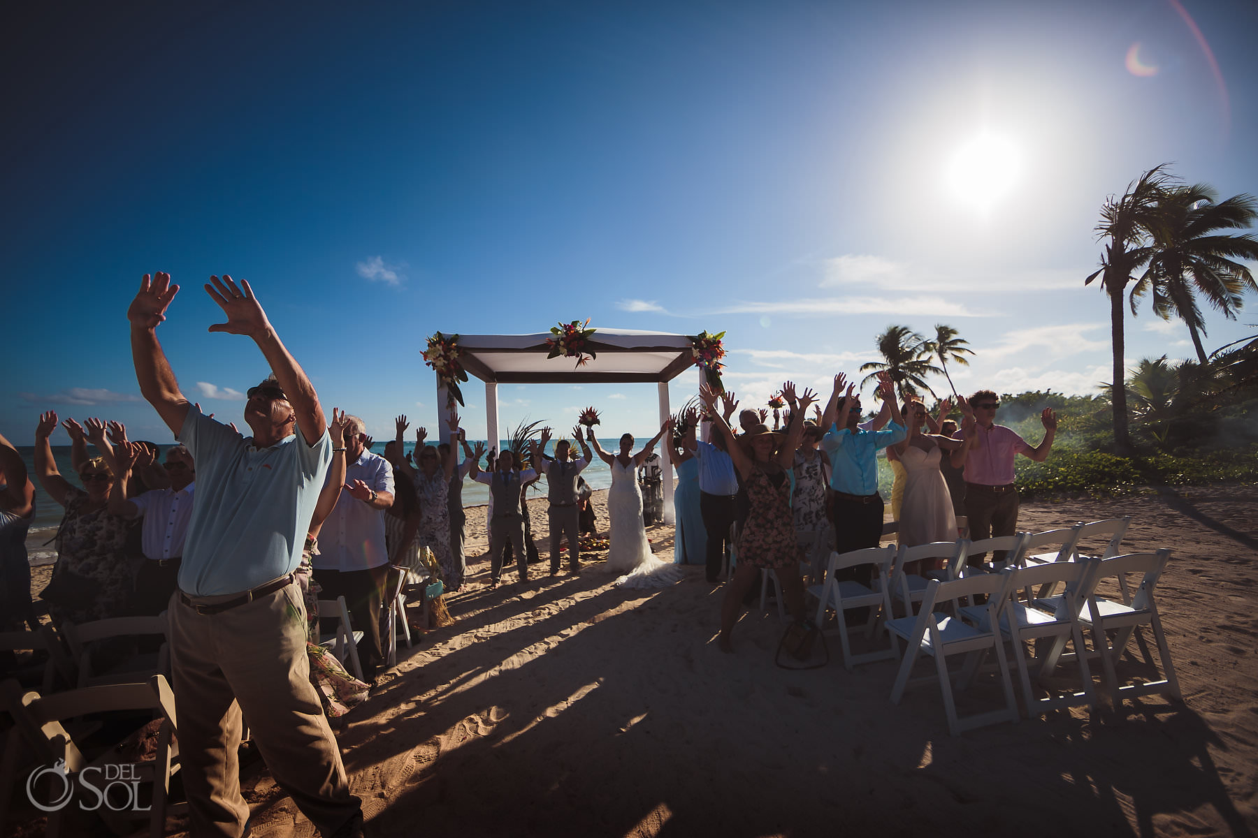Dreams Tulum Wedding four direction mayan ceremony