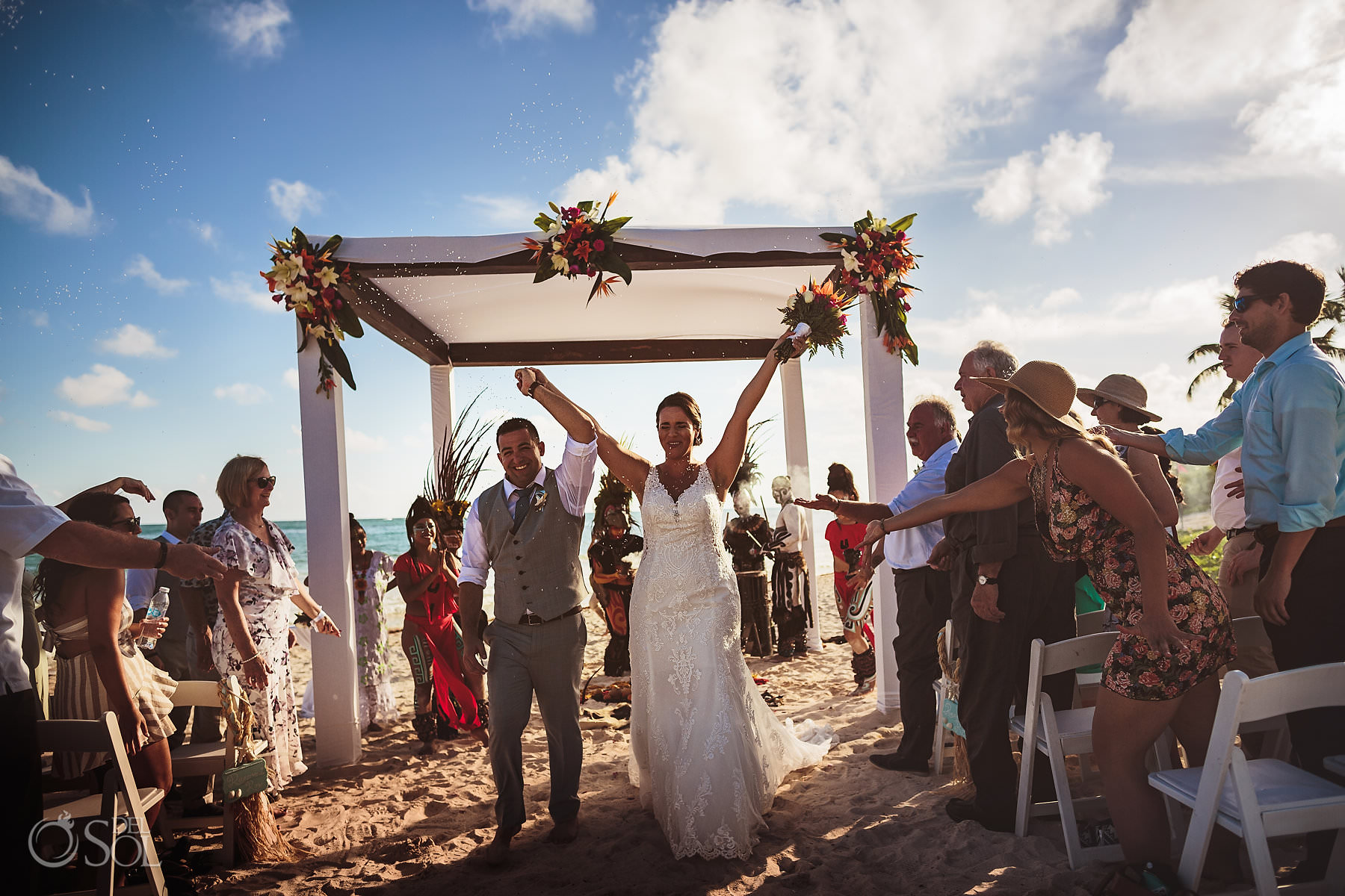Dreams Tulum Mayan Wedding Newlyweds Celebration