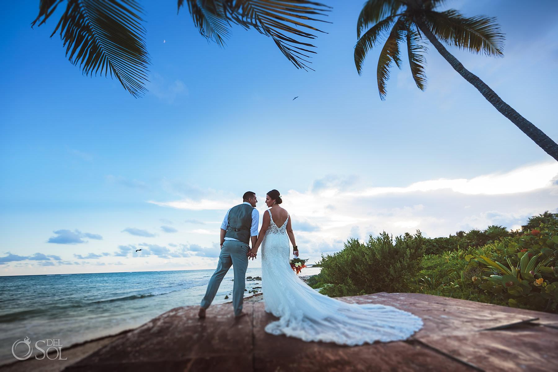 Dreams Tulum Beachfront newlywed portrait session