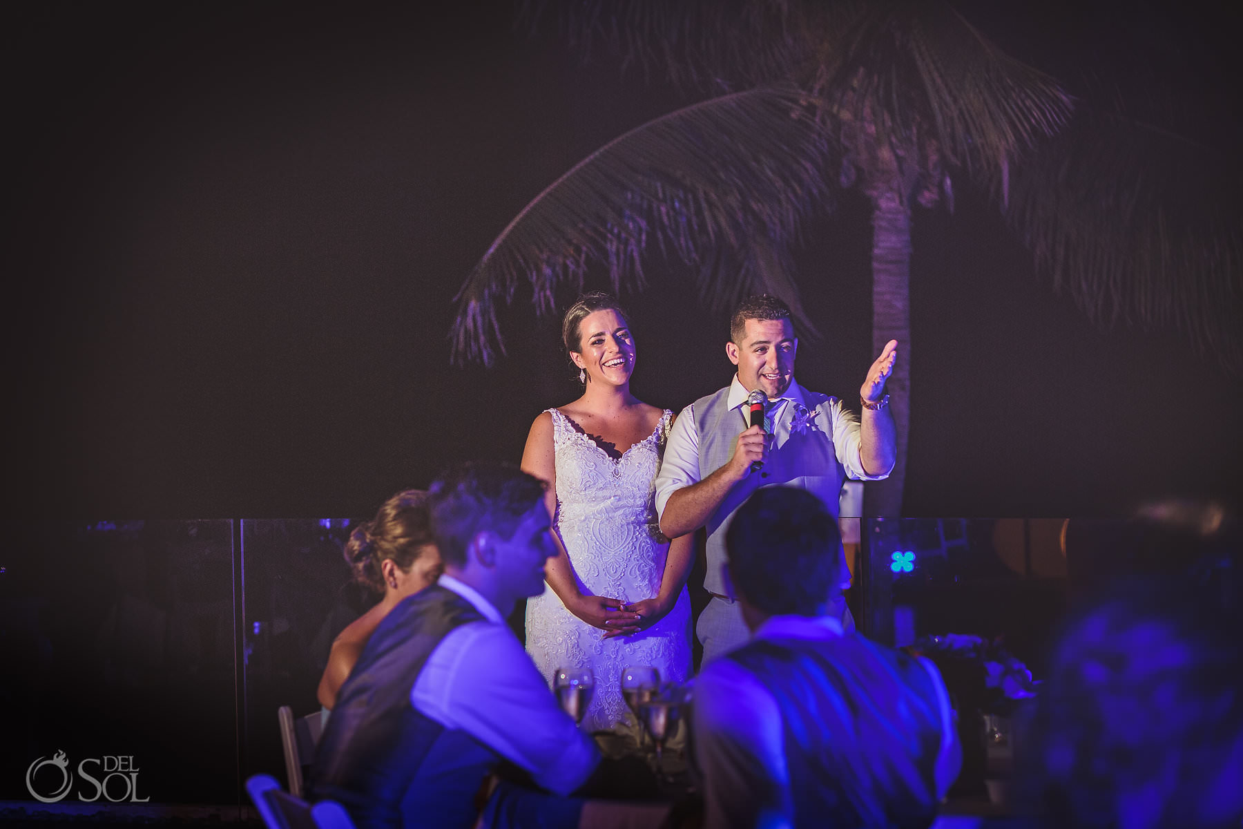 dreams tulum wedding sunset terrace Groom and bride Speech