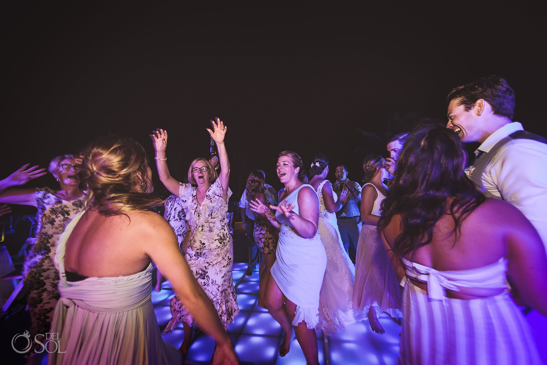 dreams tulum wedding sunset terrace reception party
