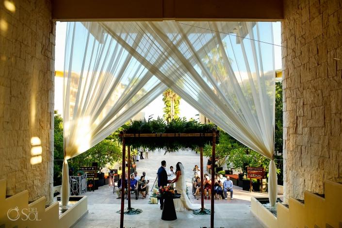Grand Staircase wedding decoration Dreams Riviera Cancun