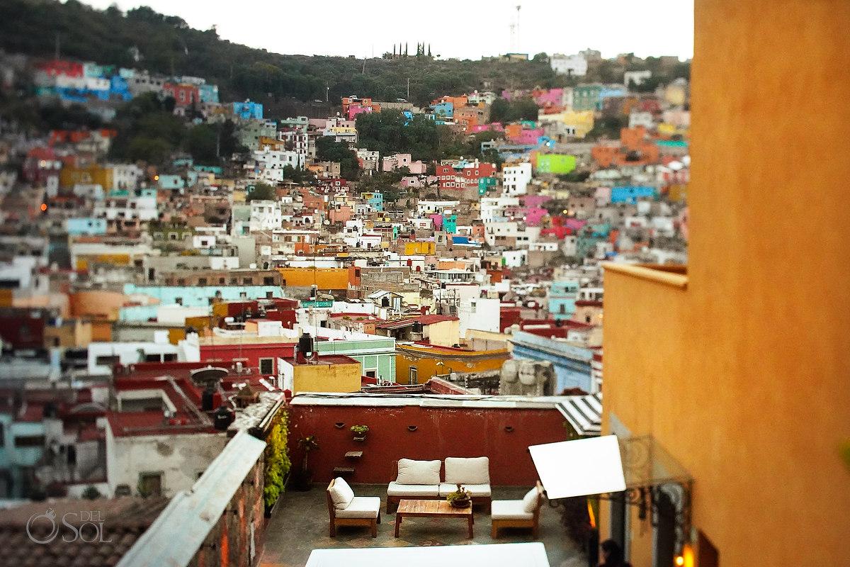 city views Casa del Rector Guanajuato Photo by Del Sol Photography