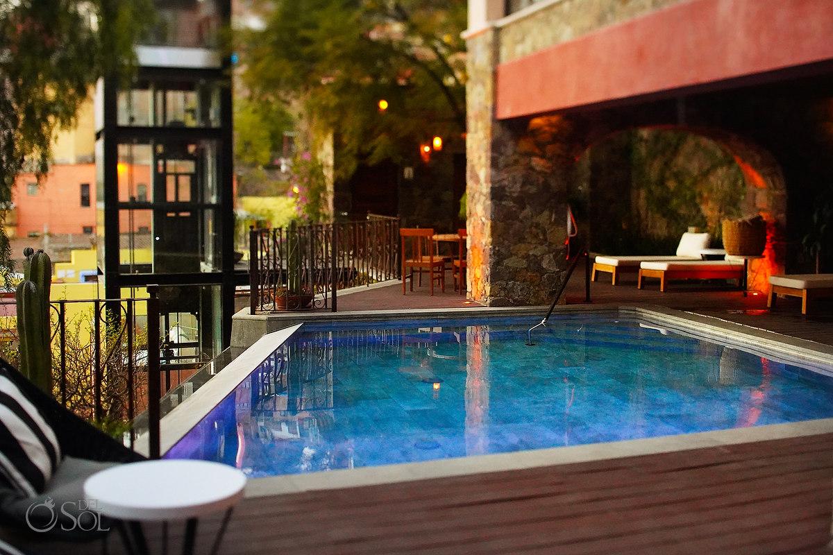 Pool views Casa del Rector Guanajuato Photo by Del Sol Photography