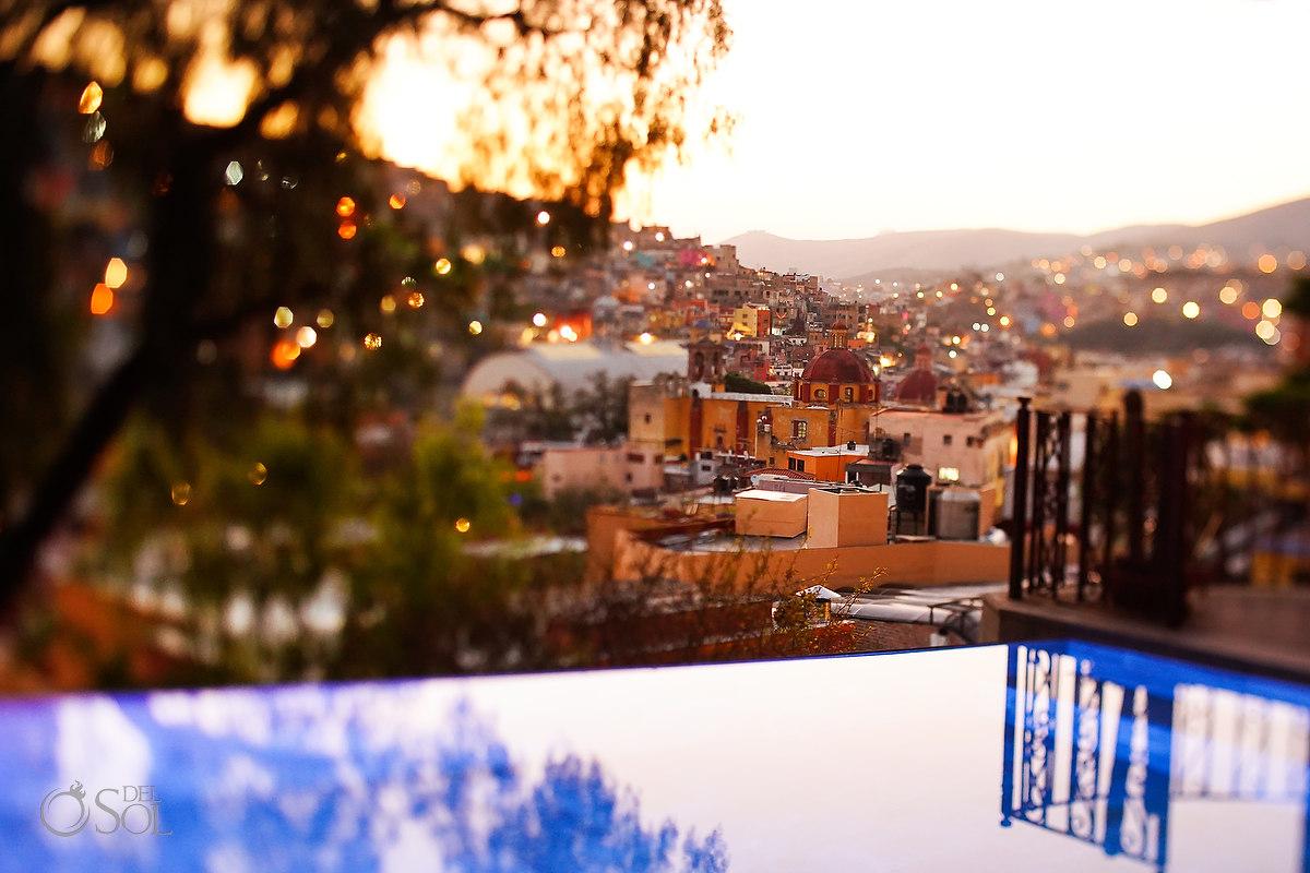 infinity Pool views at Casa Del Rector Guanajuato