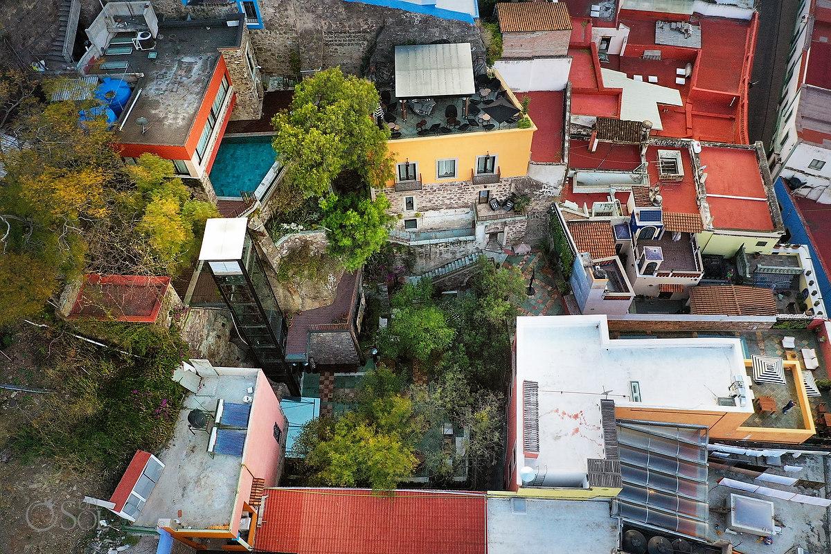 drone view of Casa del Rector Guanajuato Photo by Del Sol Photography