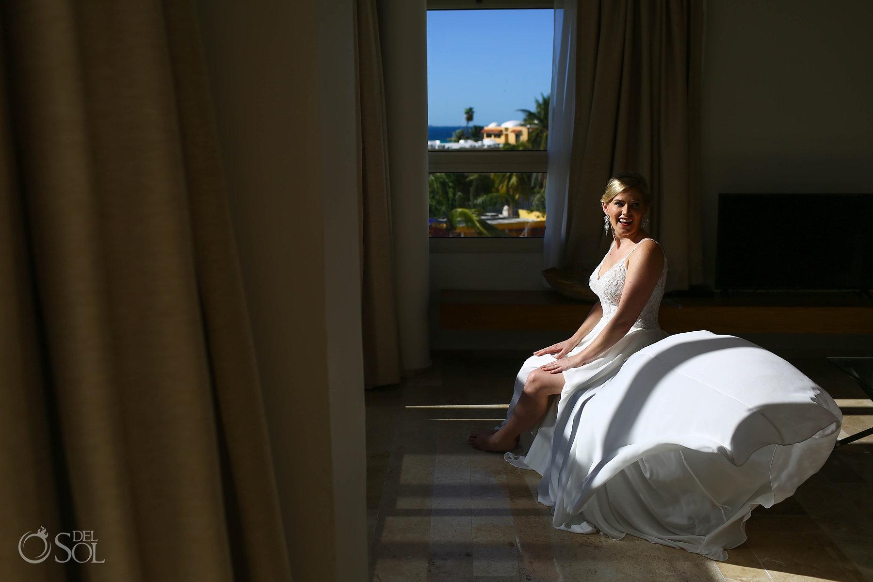 Mikaella Bridal white long silk Dress
