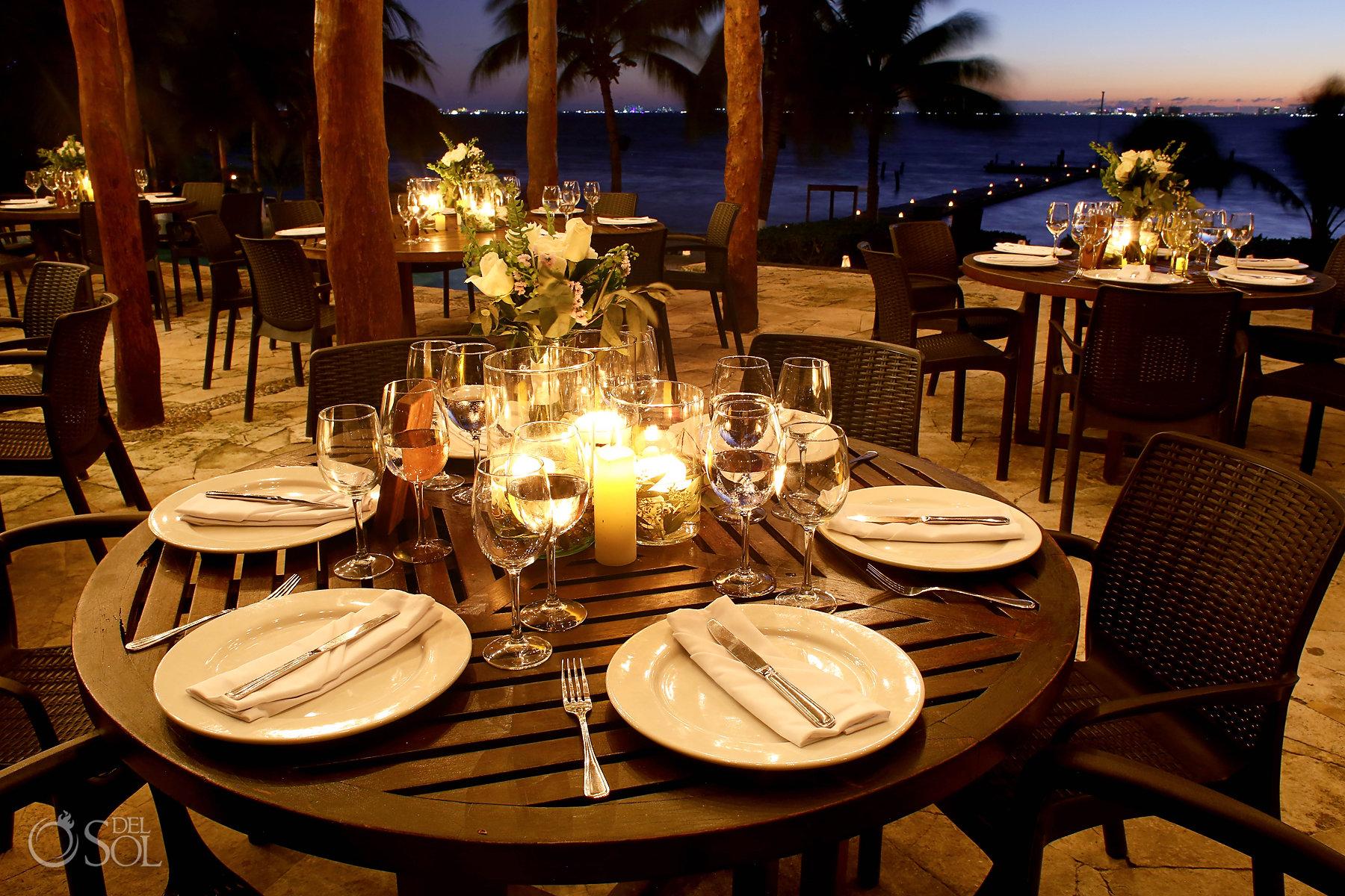 Natural Set Up Isla Mujeres wedding Zama Beach