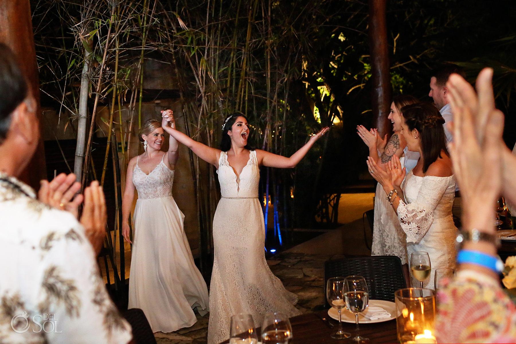 LGBT Brides Reception entrance at Isla Mujeres Zama Beach