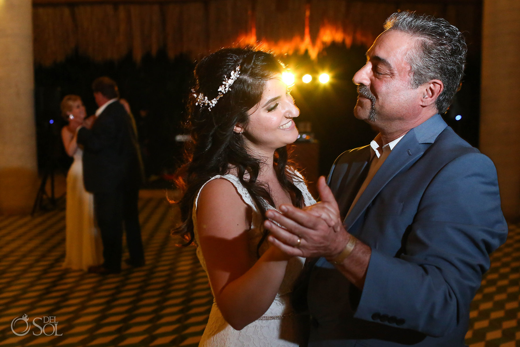 LGBT Lesbian Brides First Dance with dads