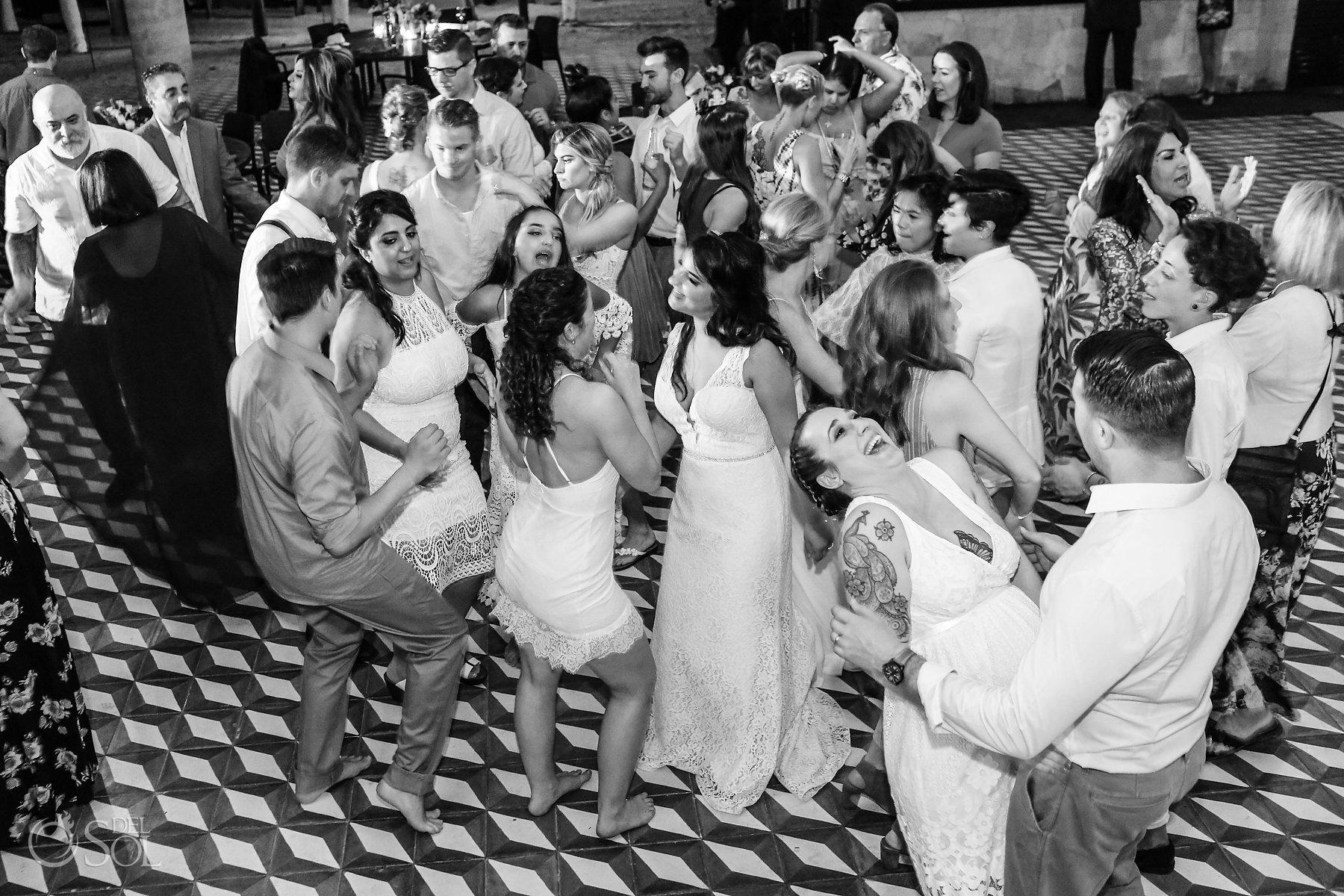 Queer Brides Wedding reception party at Isla Mujeres Zama Beach