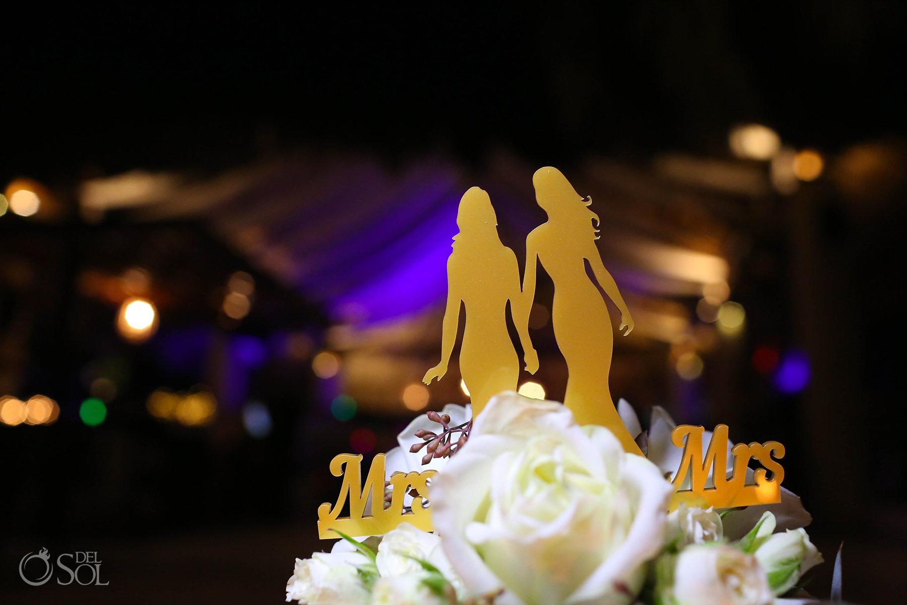 lesbian bride wedding cake topper