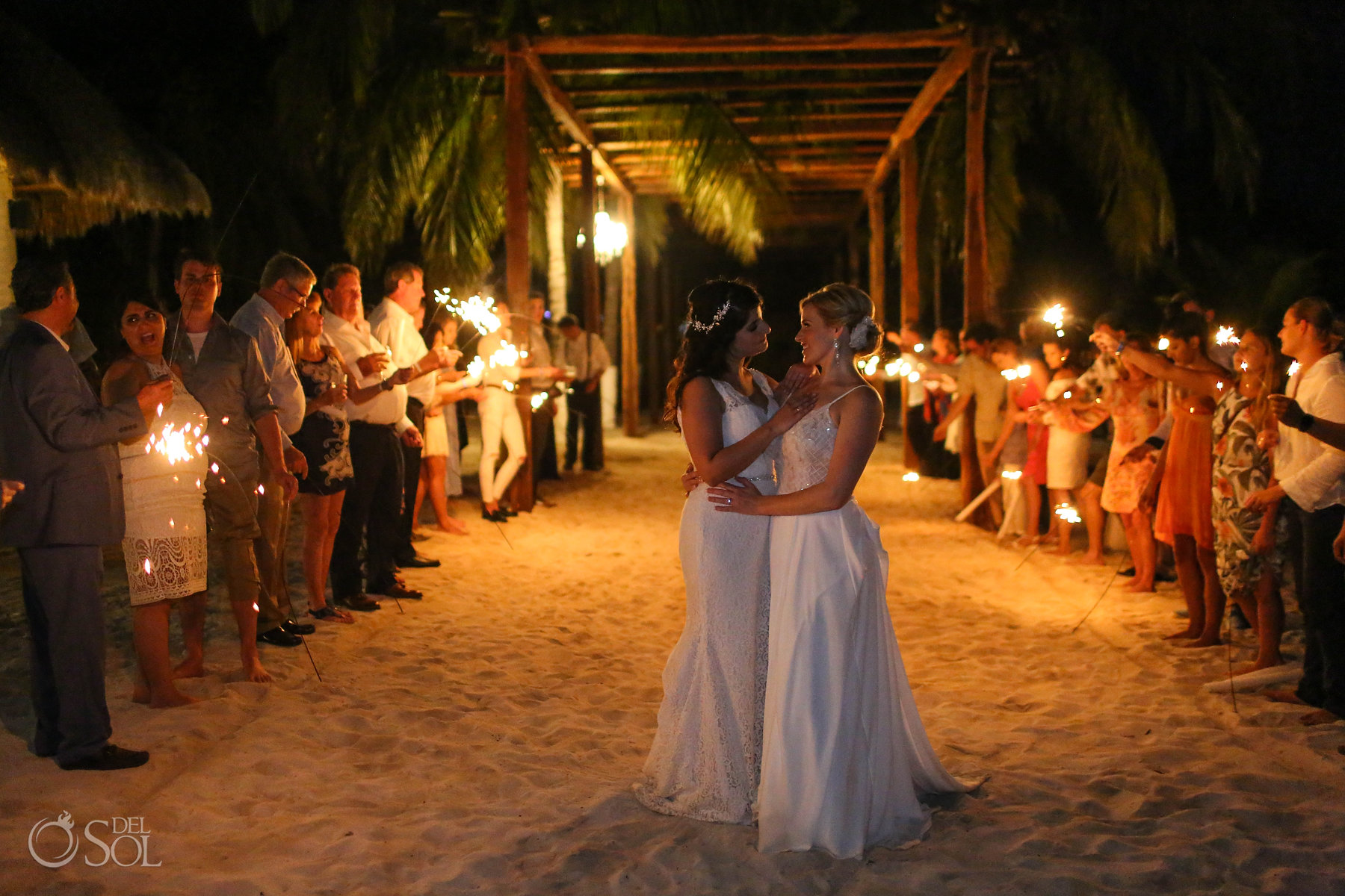 LGBT Wedding Sparklers lesbian brides in love