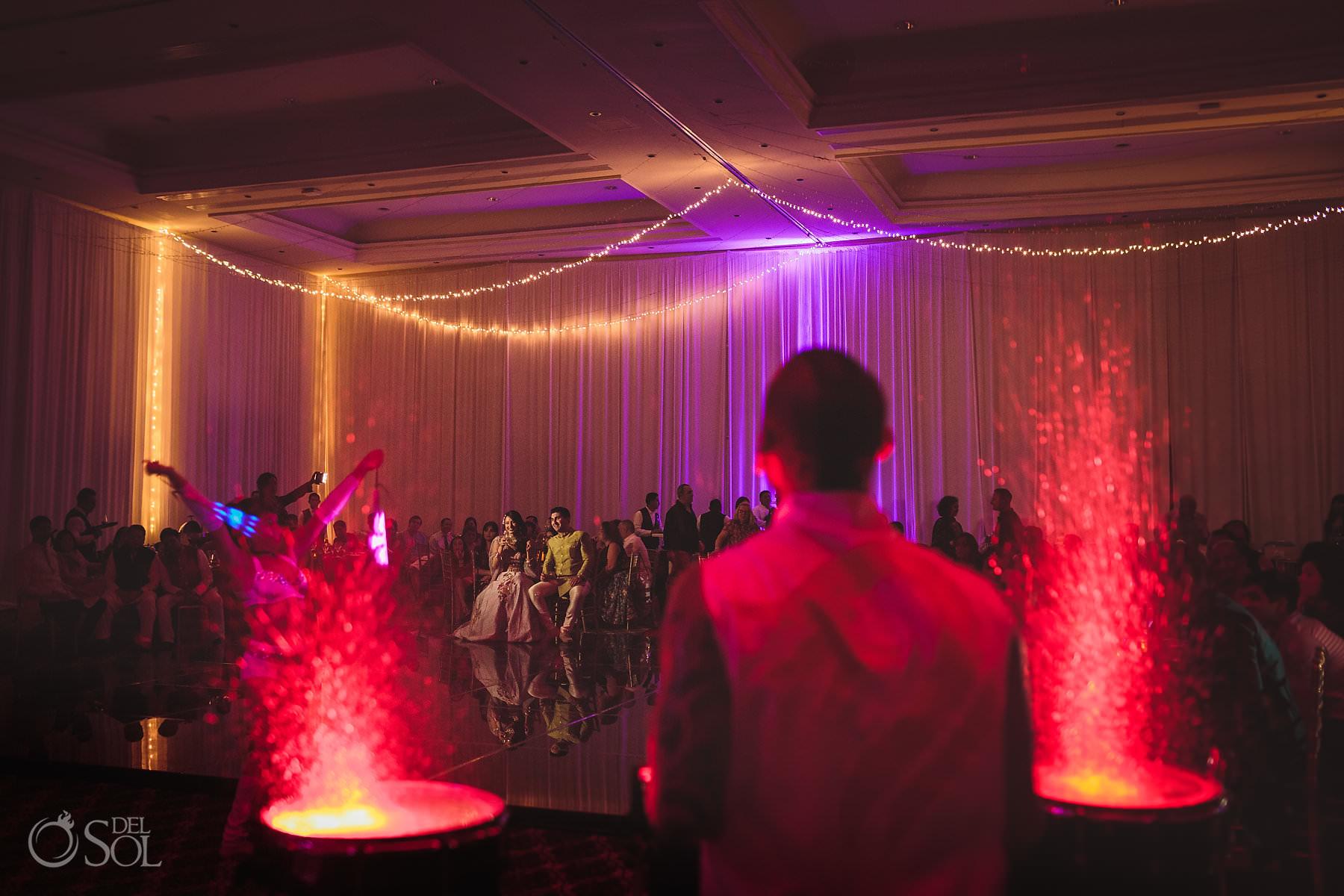 Water Drummer entertainment Dreams Tulum South Asian wedding sangeet