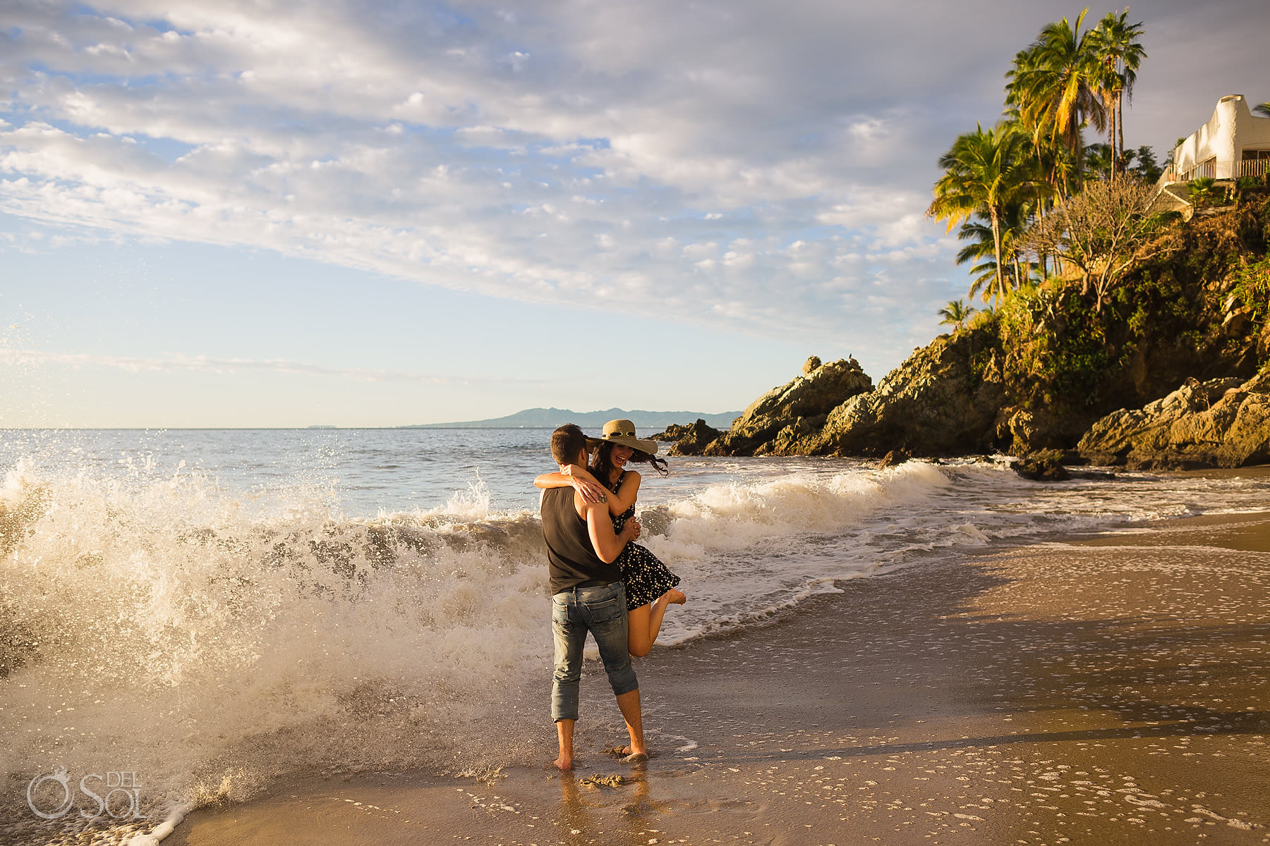 Hyatt Ziva Puerto Vallarta Wedding Photographer beach portrait session
