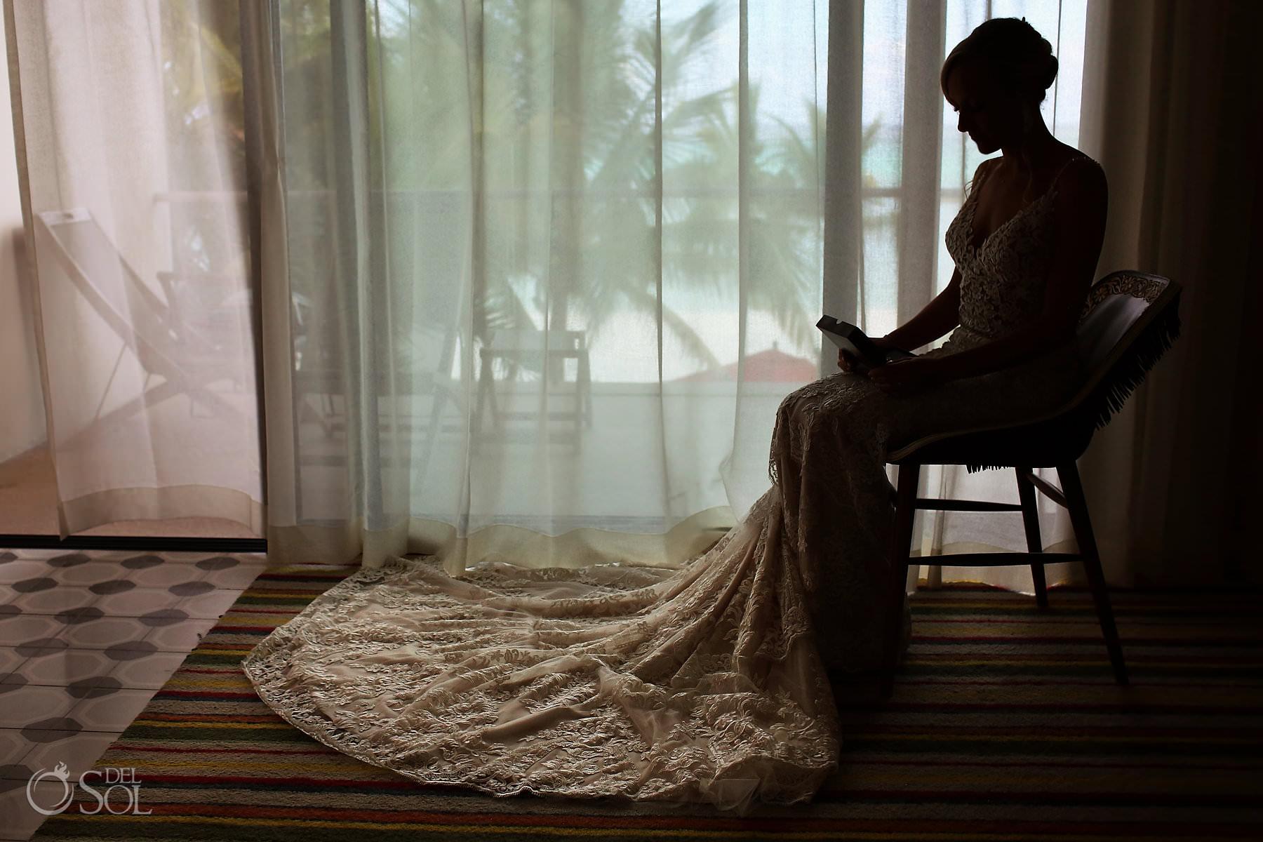 Andaz Mayakoba Wedding letter bride getting ready